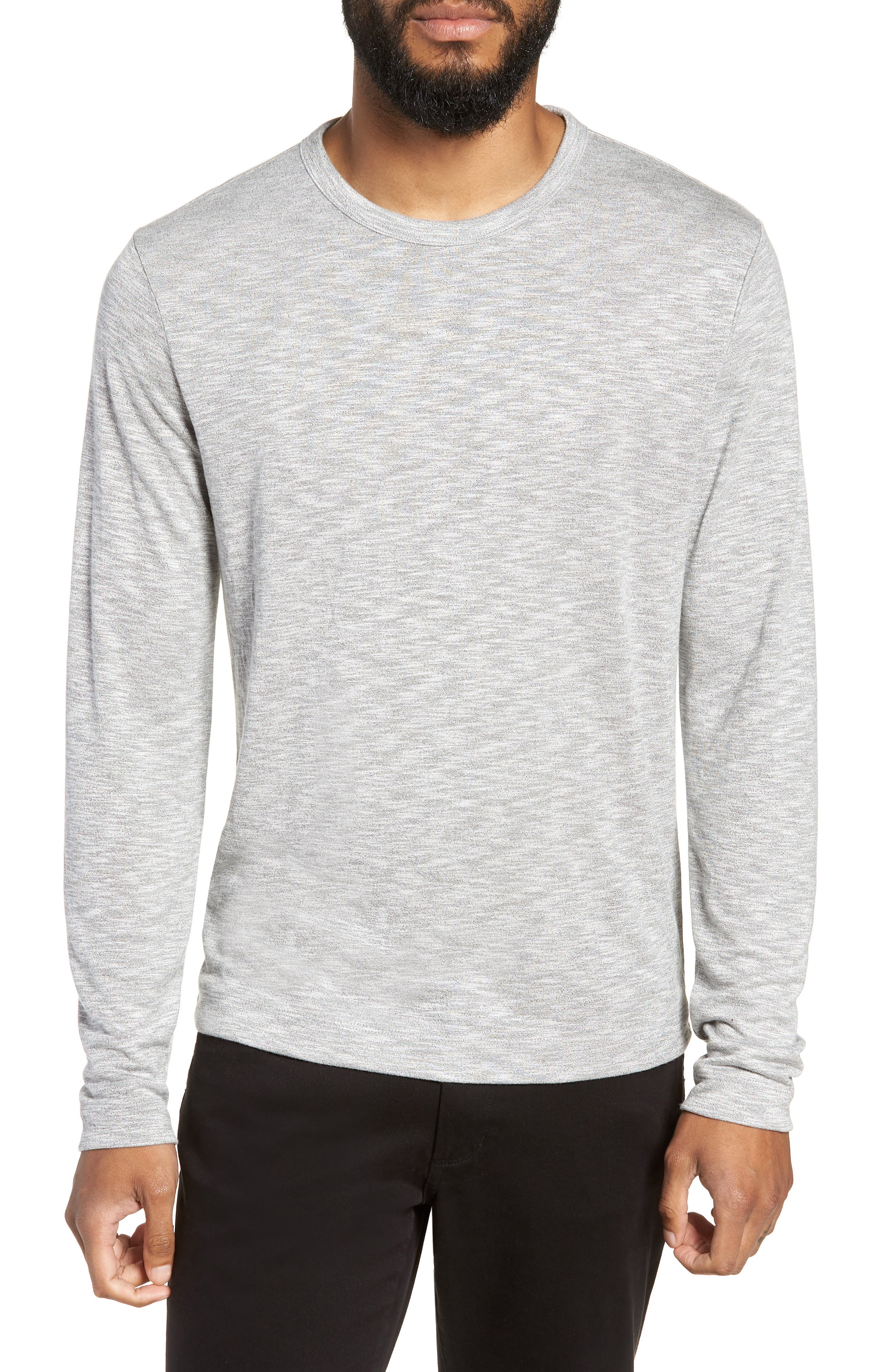 Gaskell Regular Fit Long Sleeve T-Shirt,                         Main,                         color, GREY MULTI