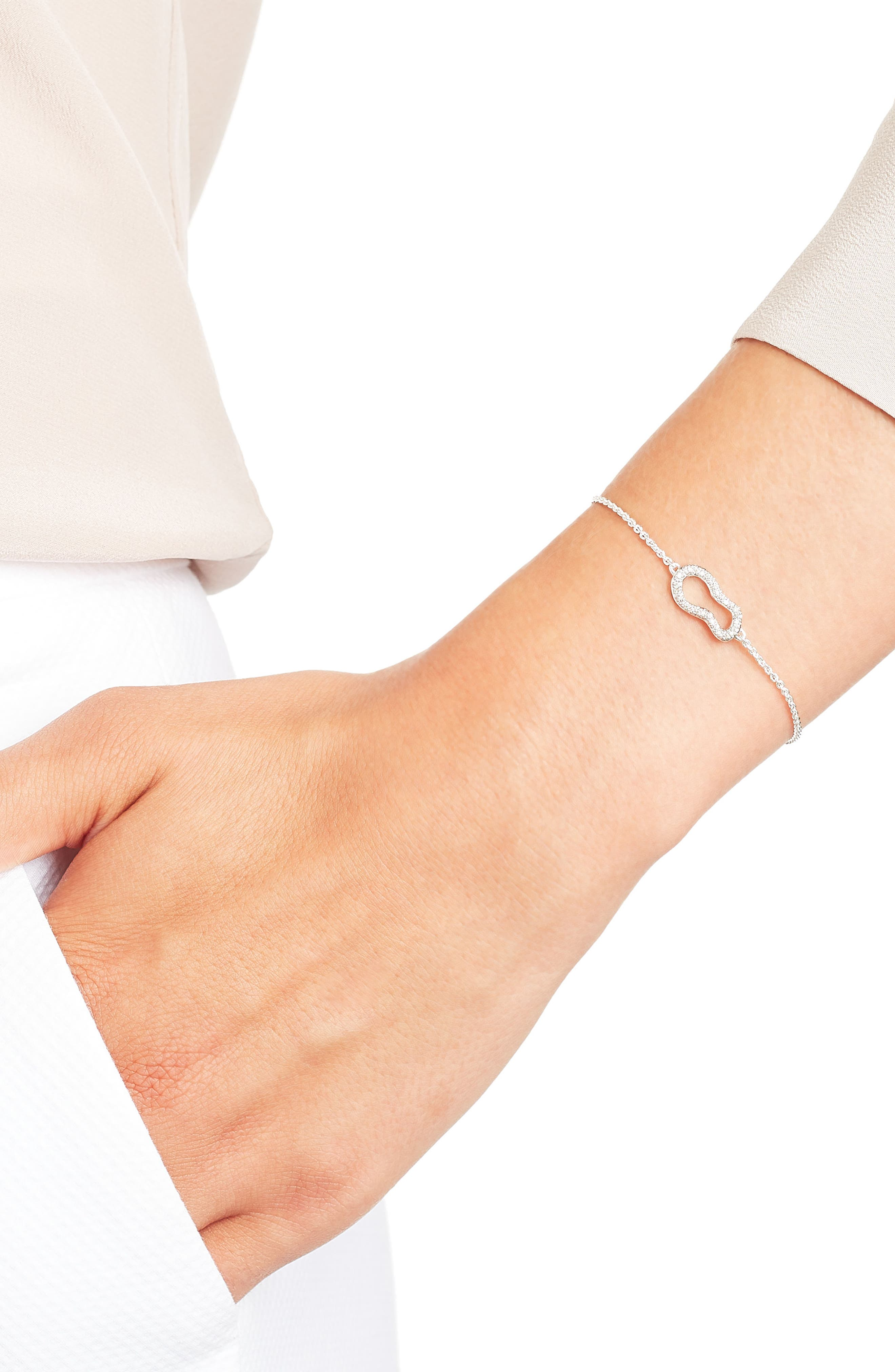 Riva Diamond Bracelet,                             Alternate thumbnail 4, color,                             ROSE GOLD/ DIAMOND