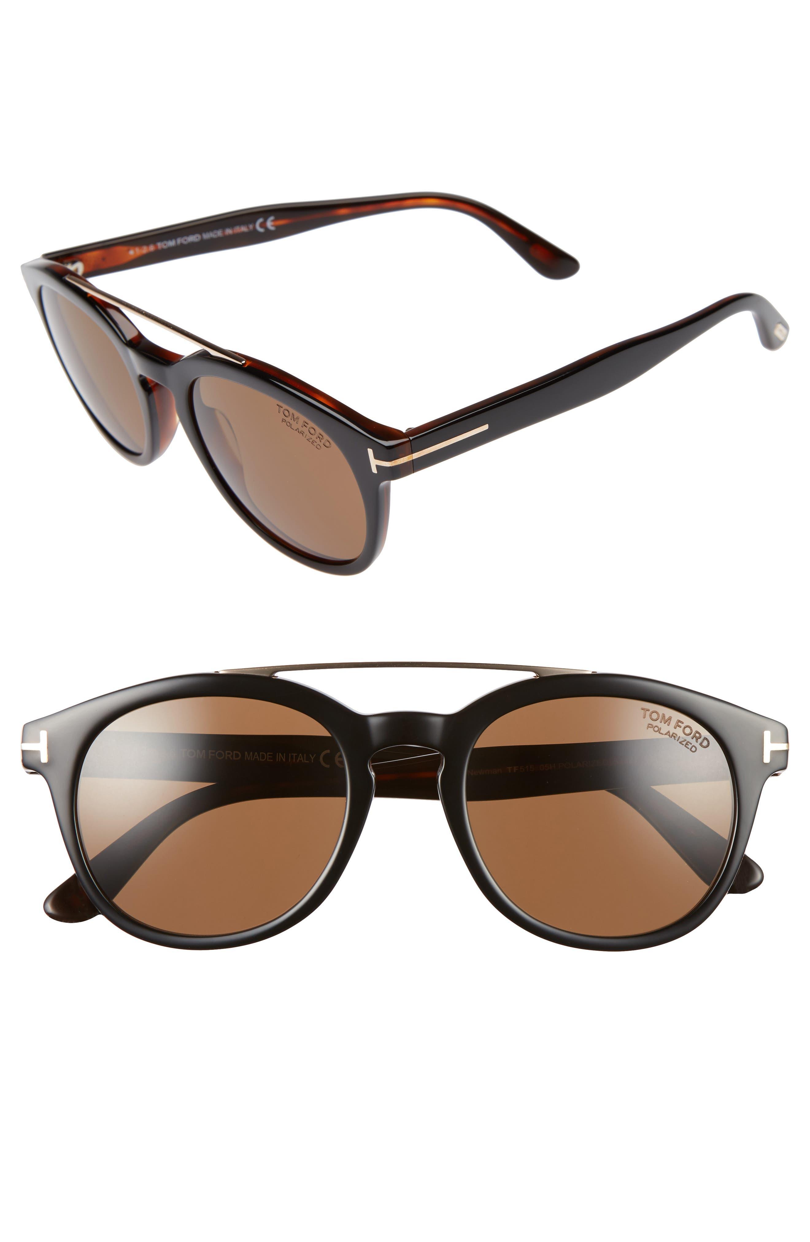 Newman 53mm Polarized Sunglasses,                         Main,                         color, 001