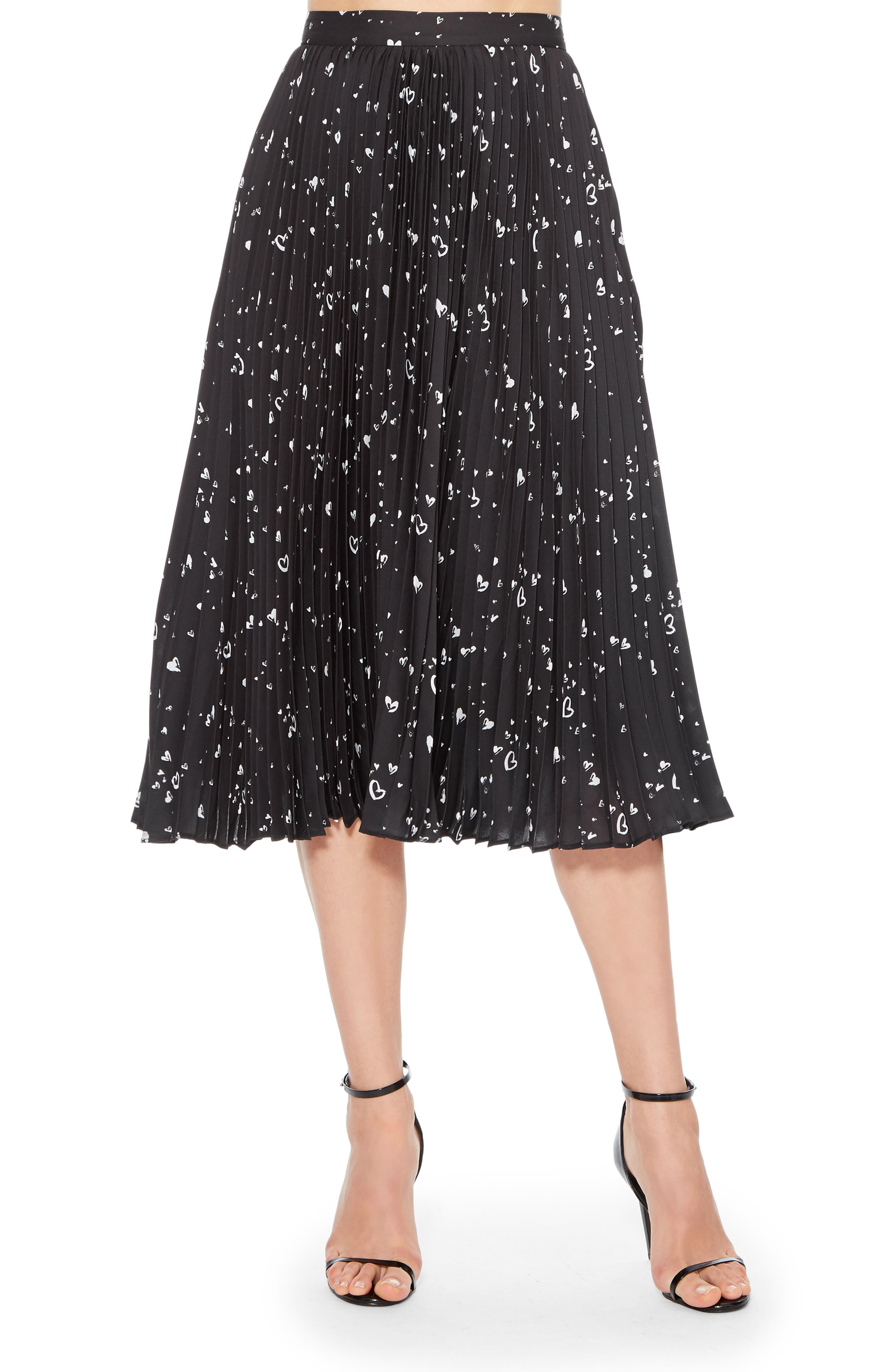 Jacinta Pleated Midi Skirt,                         Main,                         color, LOVE LANE