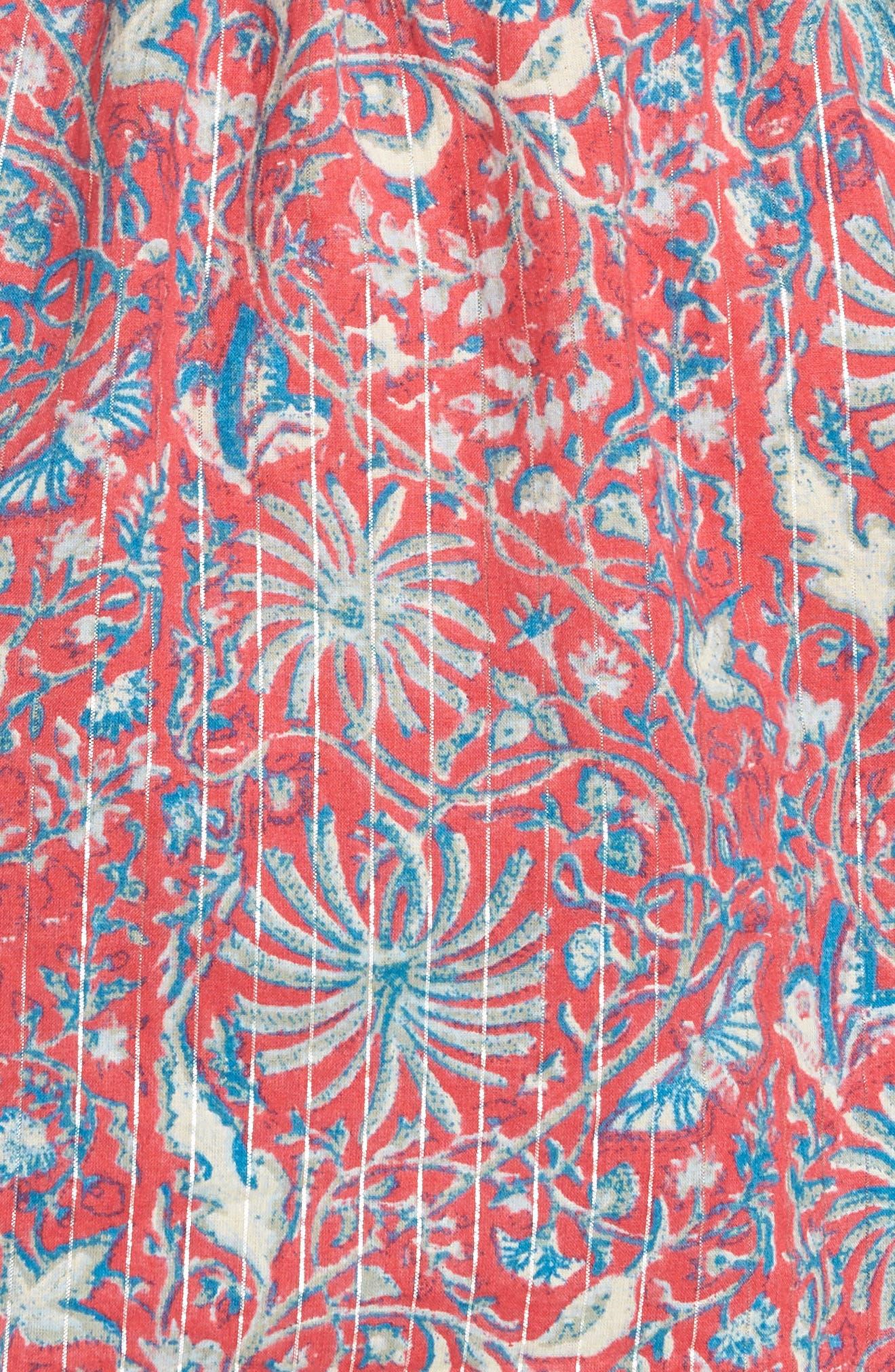 Print Cold Shoulder Top,                             Alternate thumbnail 6, color,                             950