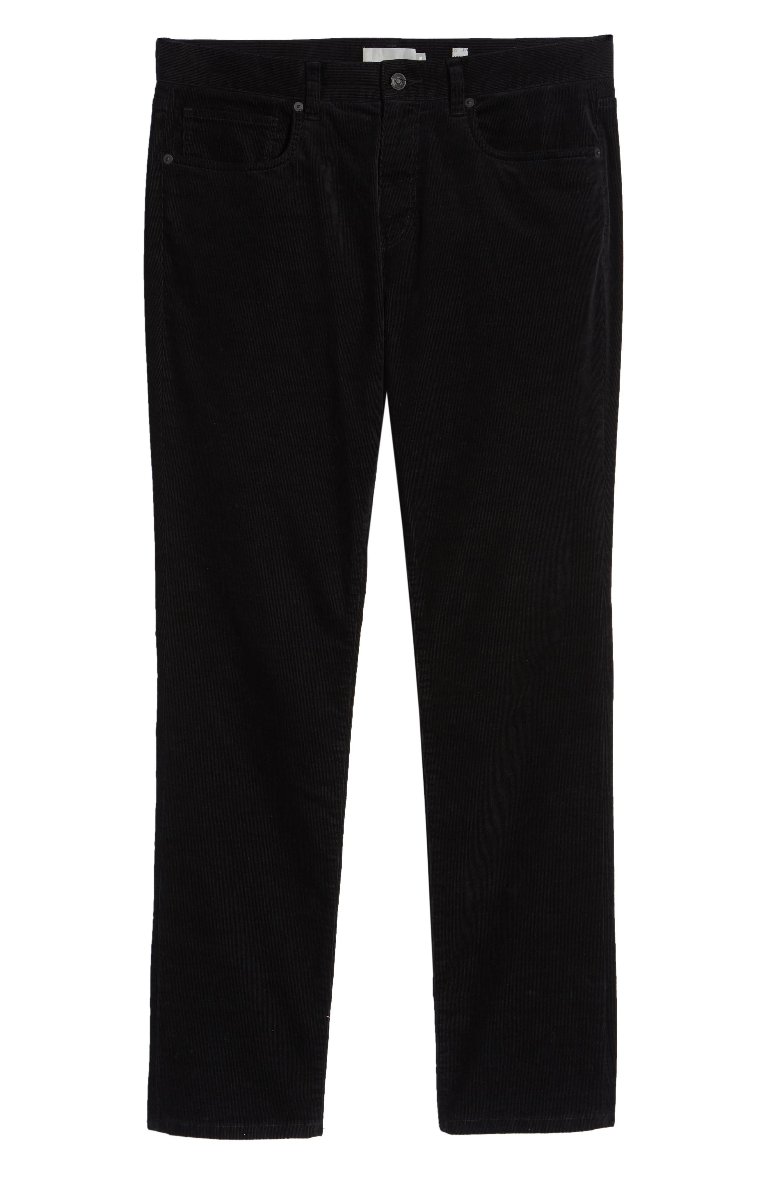 Dylan Slim Fit Corduroy Pants,                             Alternate thumbnail 6, color,                             001