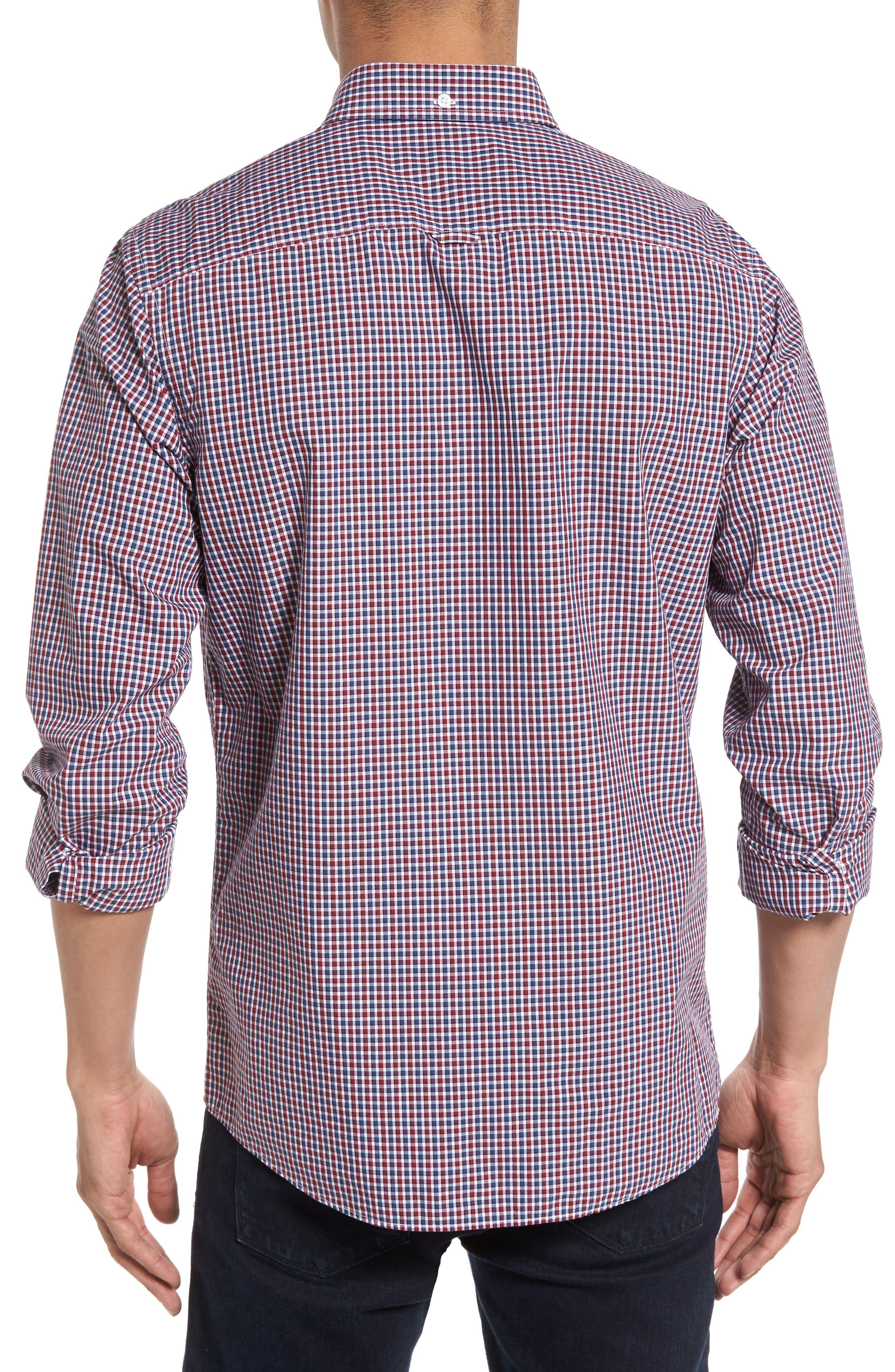Slim Fit Check Sport Shirt,                             Alternate thumbnail 2, color,