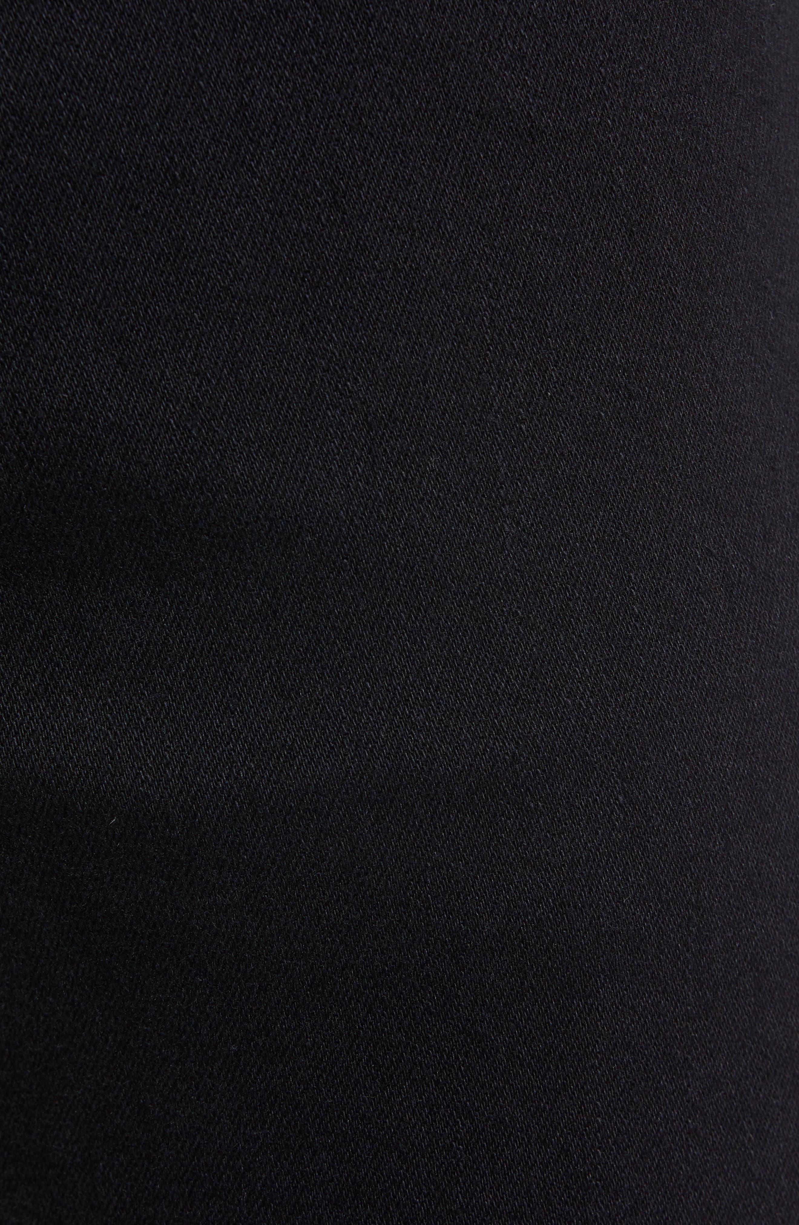 Adrien Slim Fit Straight Leg Jeans,                             Alternate thumbnail 5, color,                             AUTHENTIC BLACK