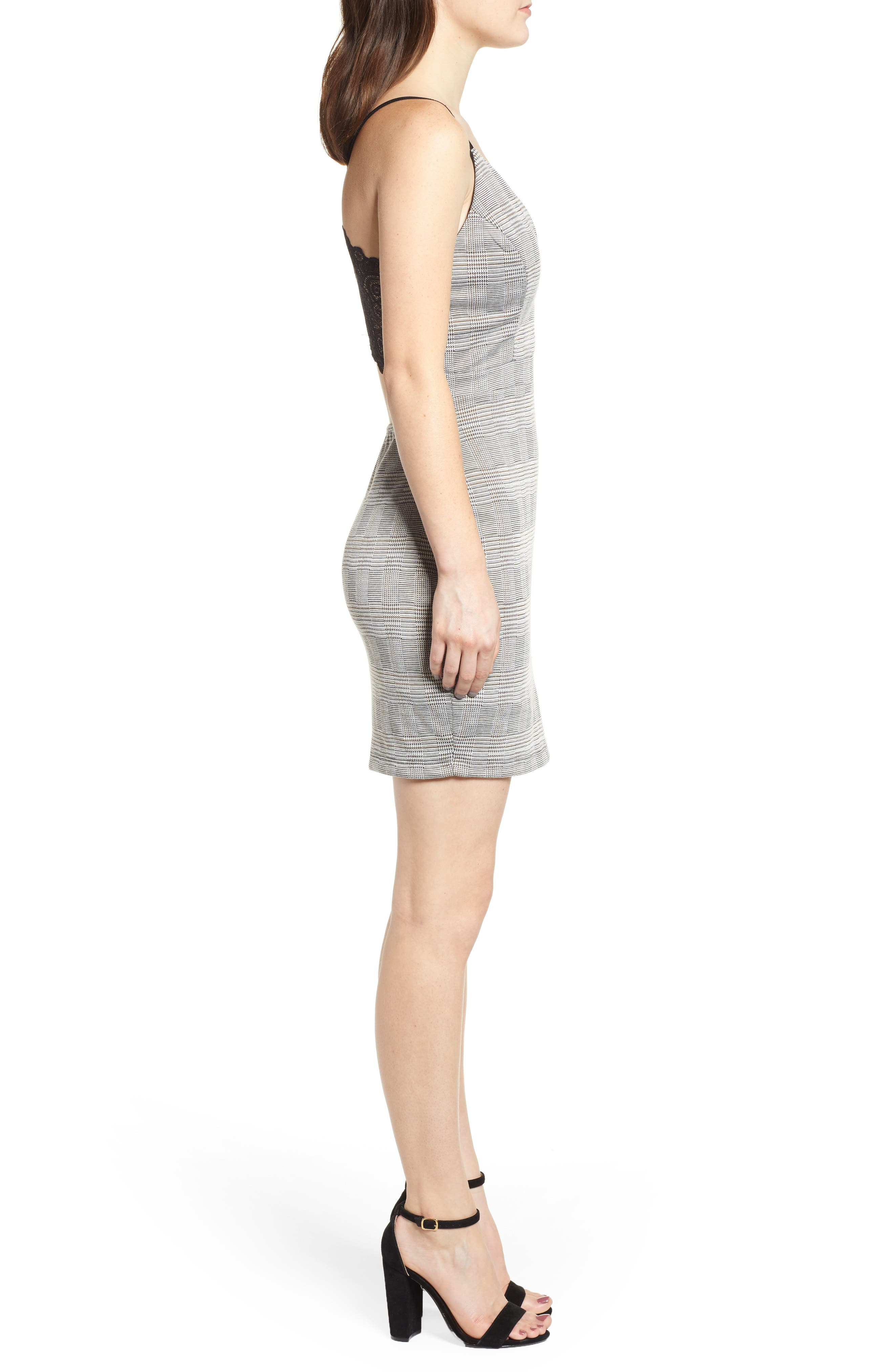 LOVE, NICKIE LEW,                             Body-Con Dress,                             Alternate thumbnail 3, color,                             001