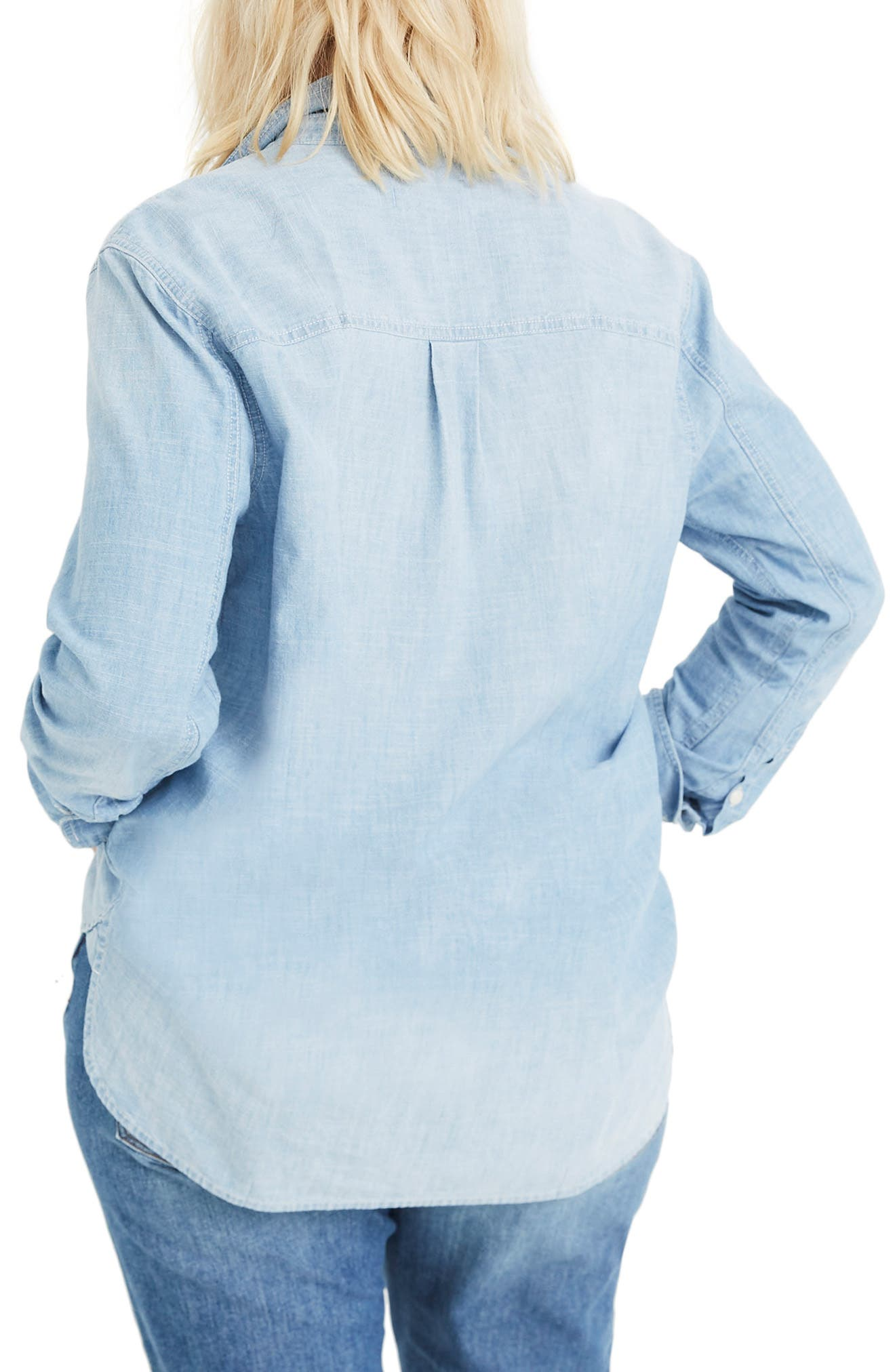 MADEWELL,                             Ex-Boyfriend Classic Chambray Shirt,                             Alternate thumbnail 2, color,                             EVIE WASH