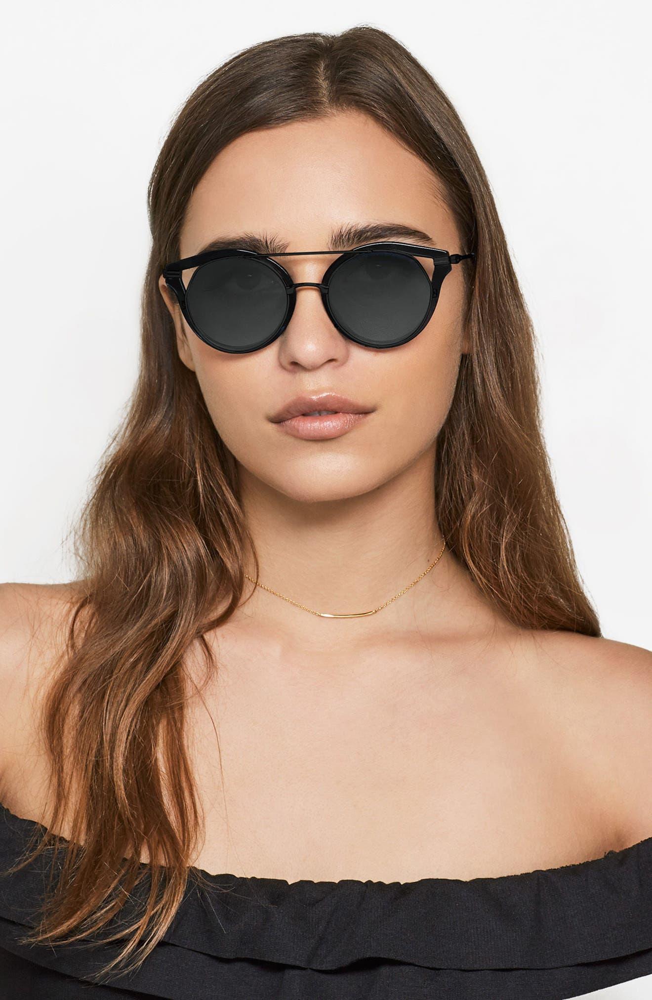 SONIX,                             Preston 51mm Gradient Round Sunglasses,                             Alternate thumbnail 7, color,                             001