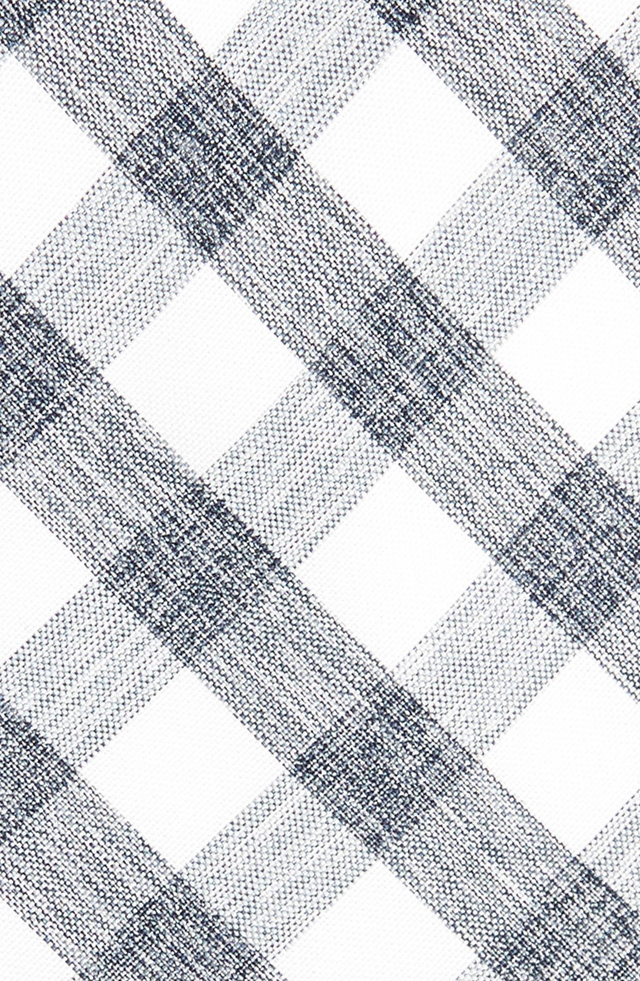 Larkin Check Cotton Tie,                             Alternate thumbnail 2, color,                             001