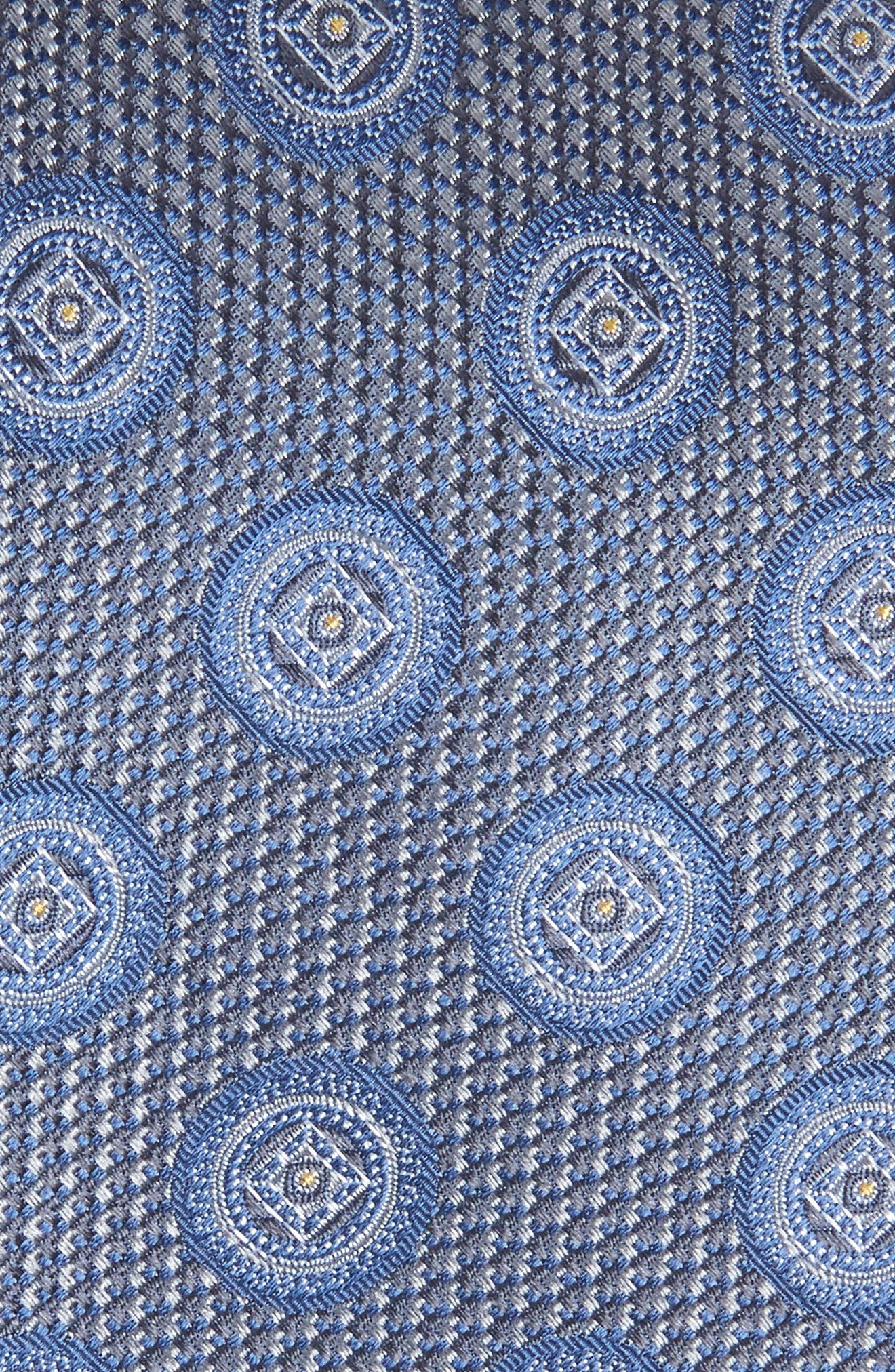 Romano Medallion Silk Tie,                             Alternate thumbnail 2, color,                             LIGHT GREY