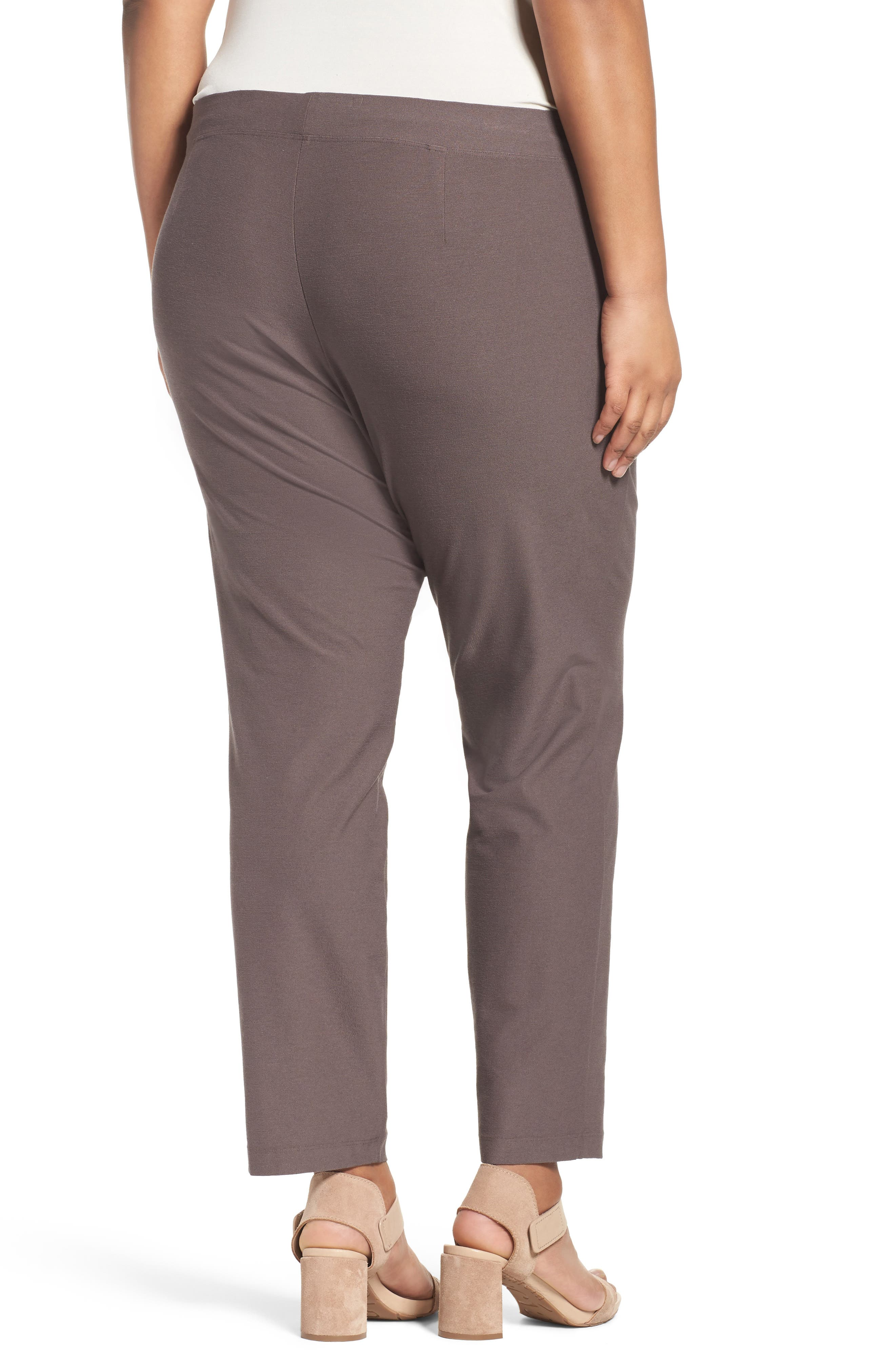Slim Washable Stretch Crepe Ankle Pants,                             Alternate thumbnail 14, color,