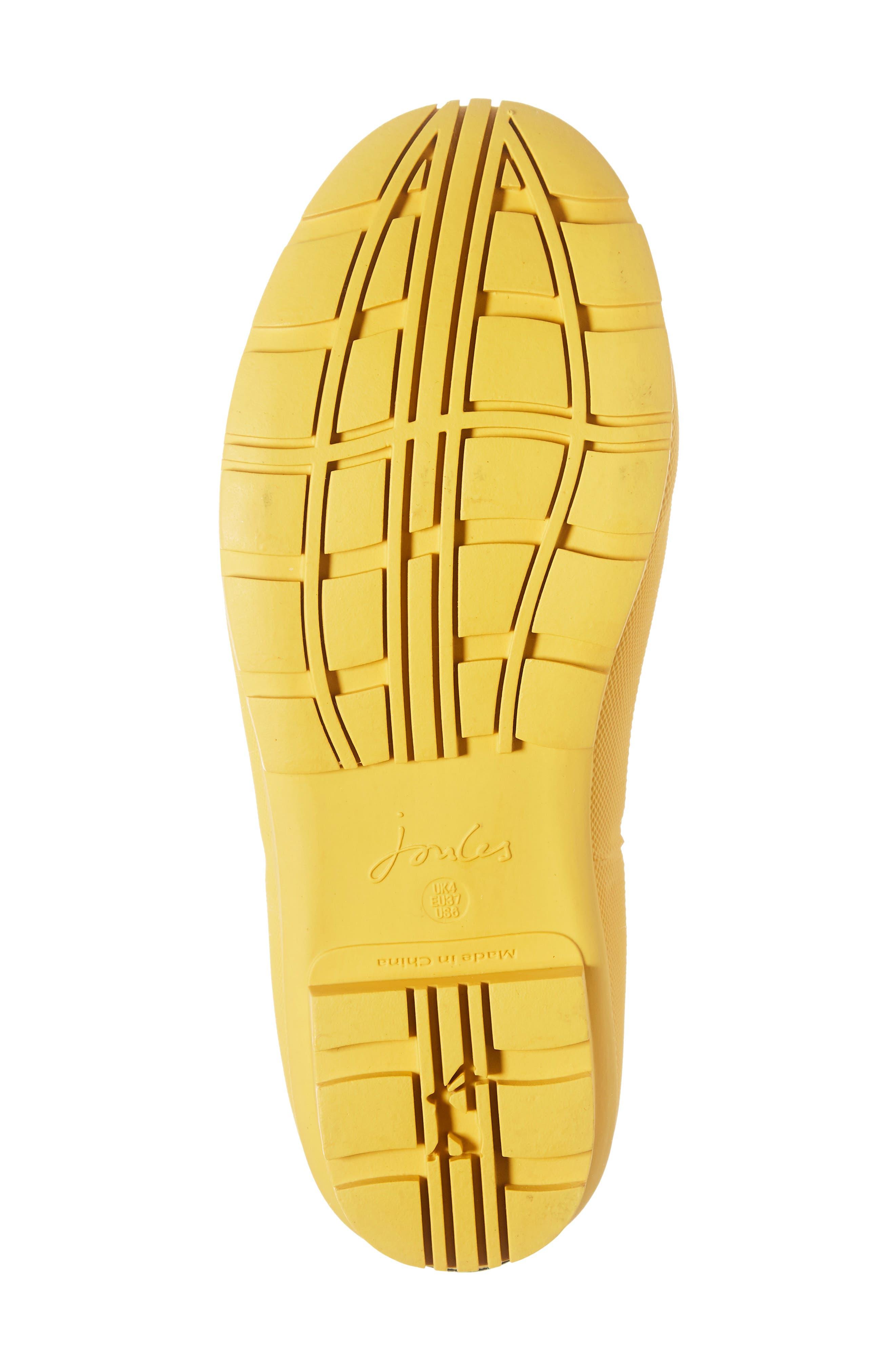 Wellibob Short Rain Boot,                             Alternate thumbnail 6, color,                             GOLD BOTANICAL BEES