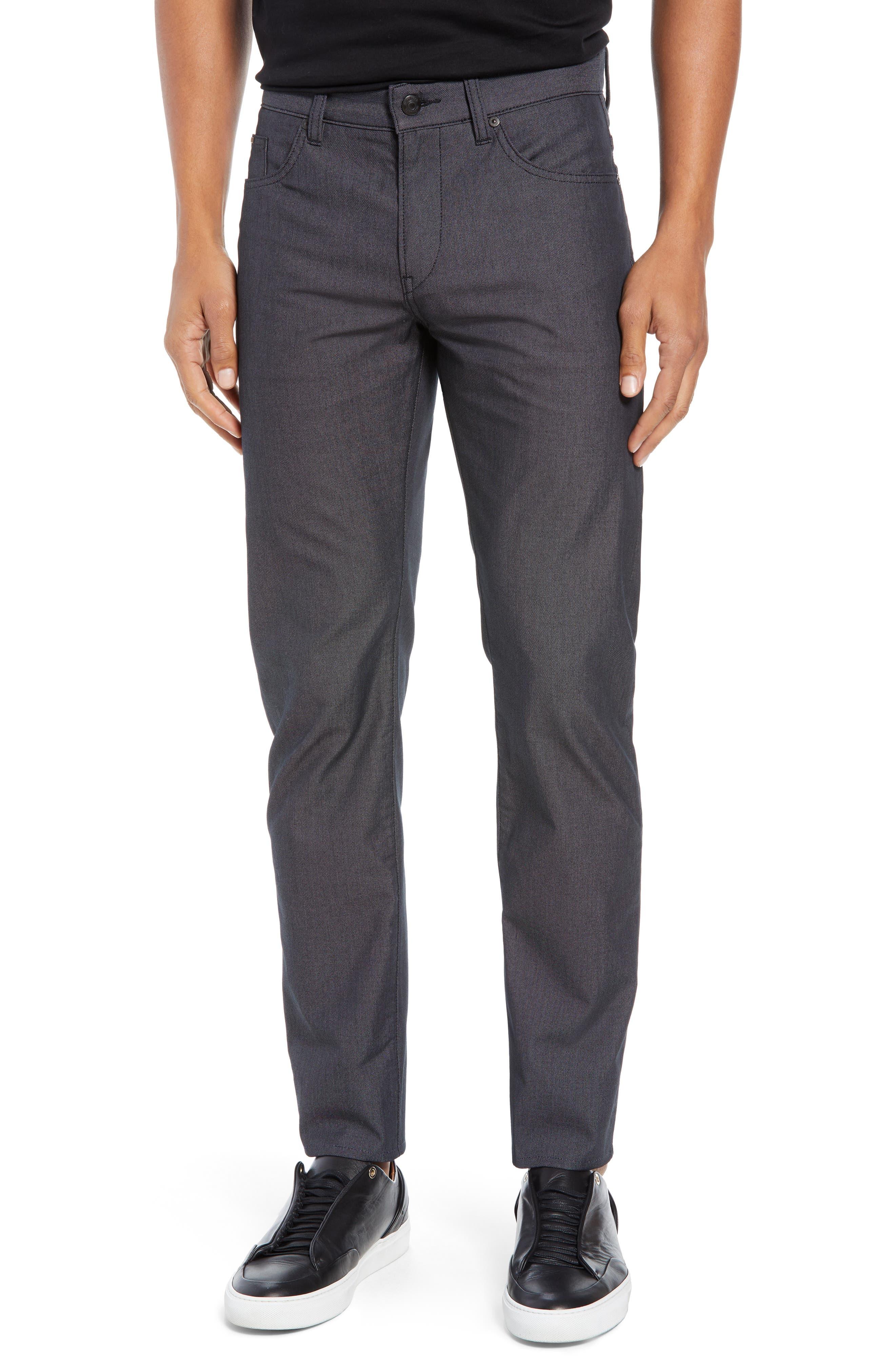 Delaware Slim Fit Pin Dot Pants,                         Main,                         color, BLACK