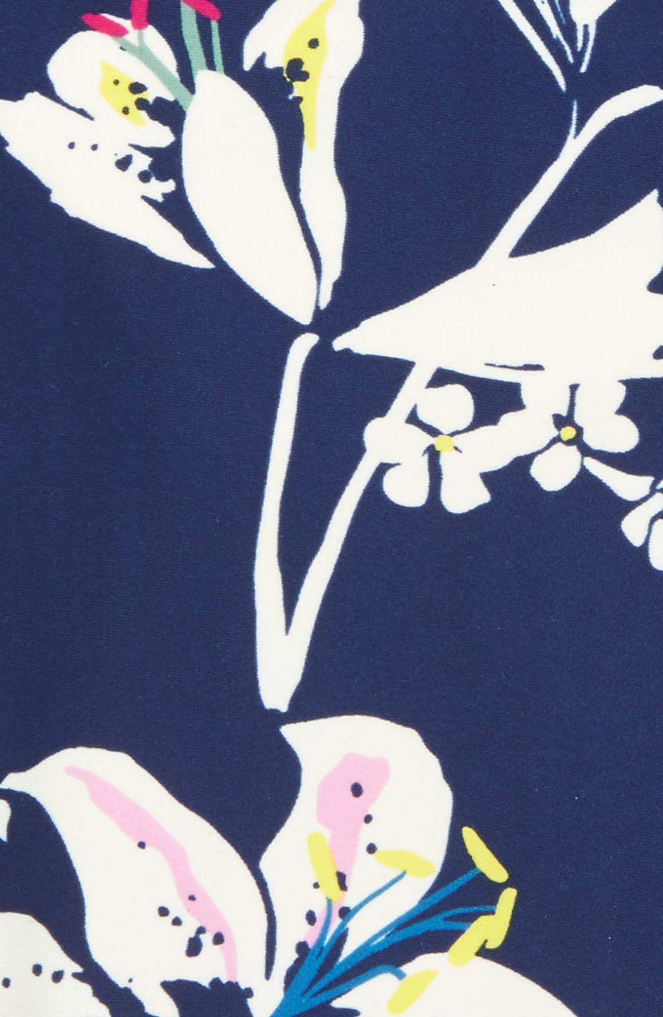 Tropical Lilies One-Piece Swimsuit,                             Alternate thumbnail 3, color,                             TROPICAL LILLIES