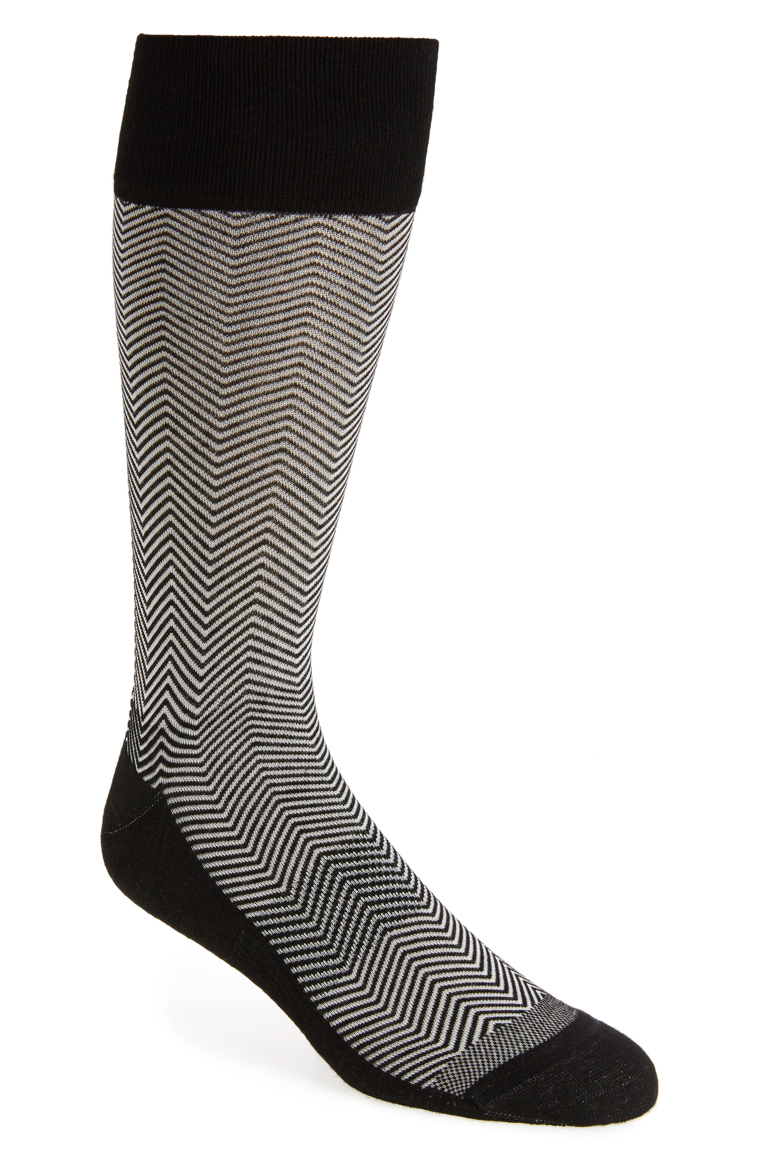 Chevron Socks,                         Main,                         color, 001