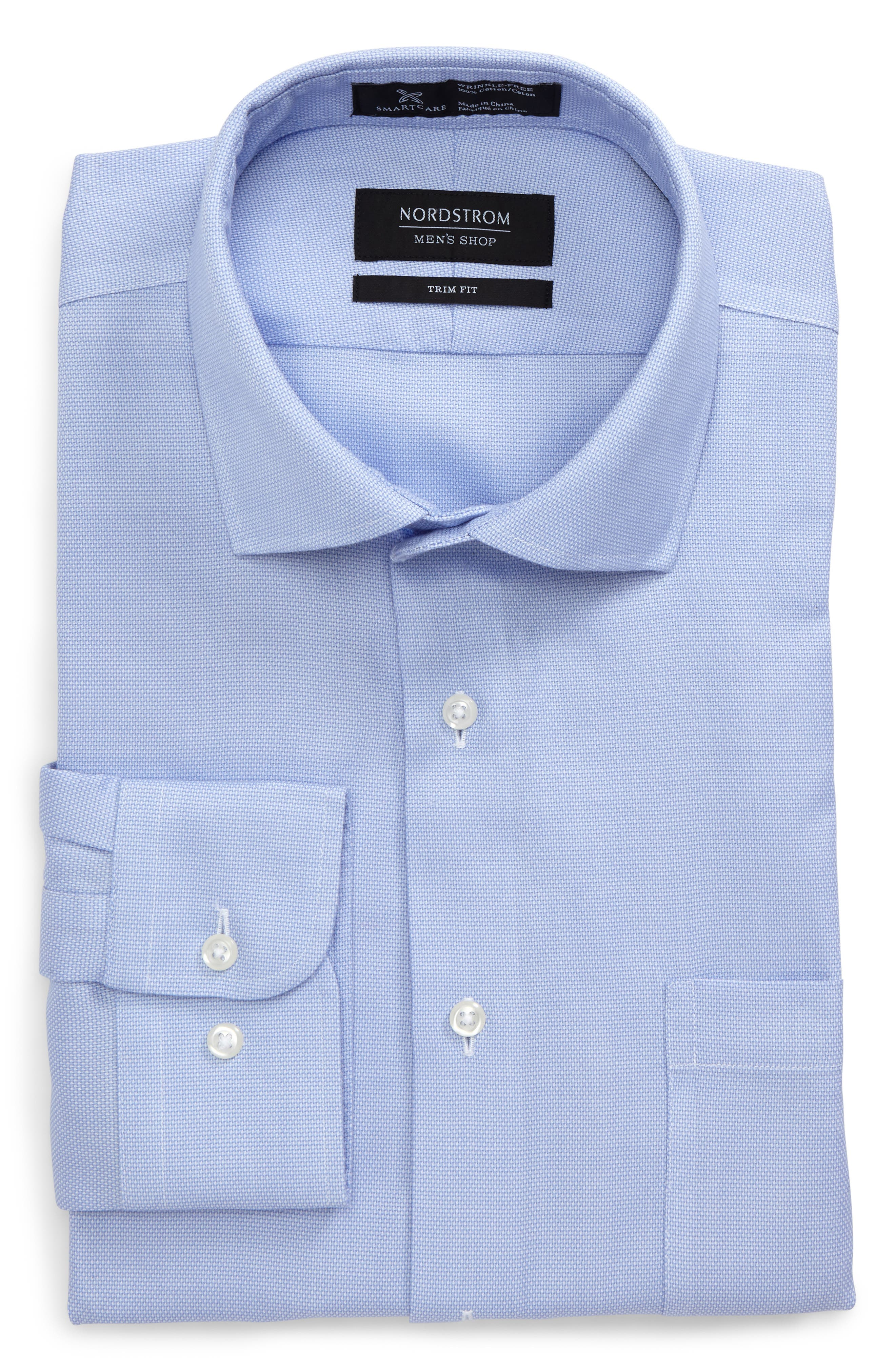 Smartcare<sup>™</sup> Trim Fit Oxford Dress Shirt,                             Main thumbnail 2, color,