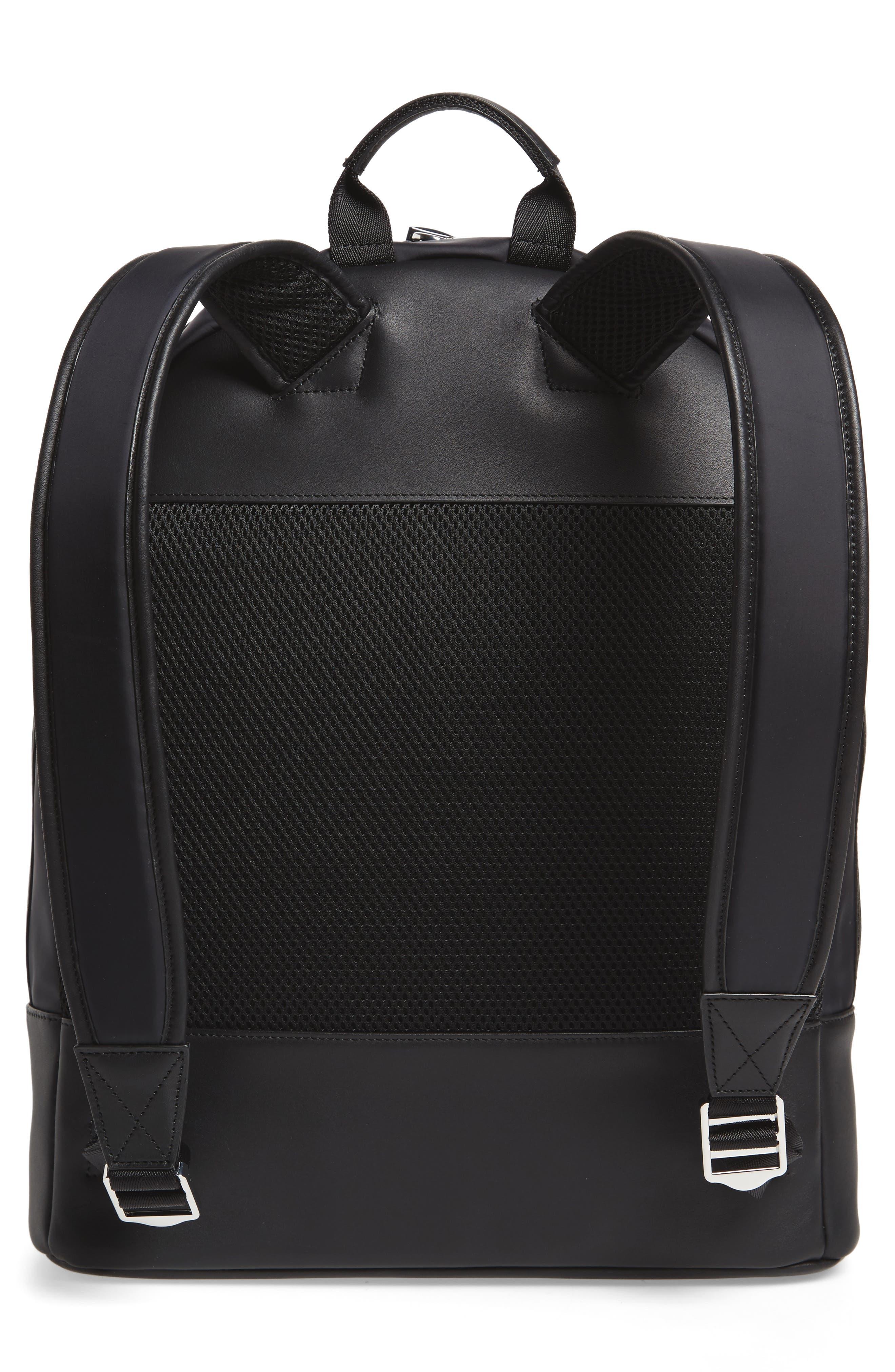 'Kastrup' Backpack,                             Alternate thumbnail 3, color,                             BLACK NYLON