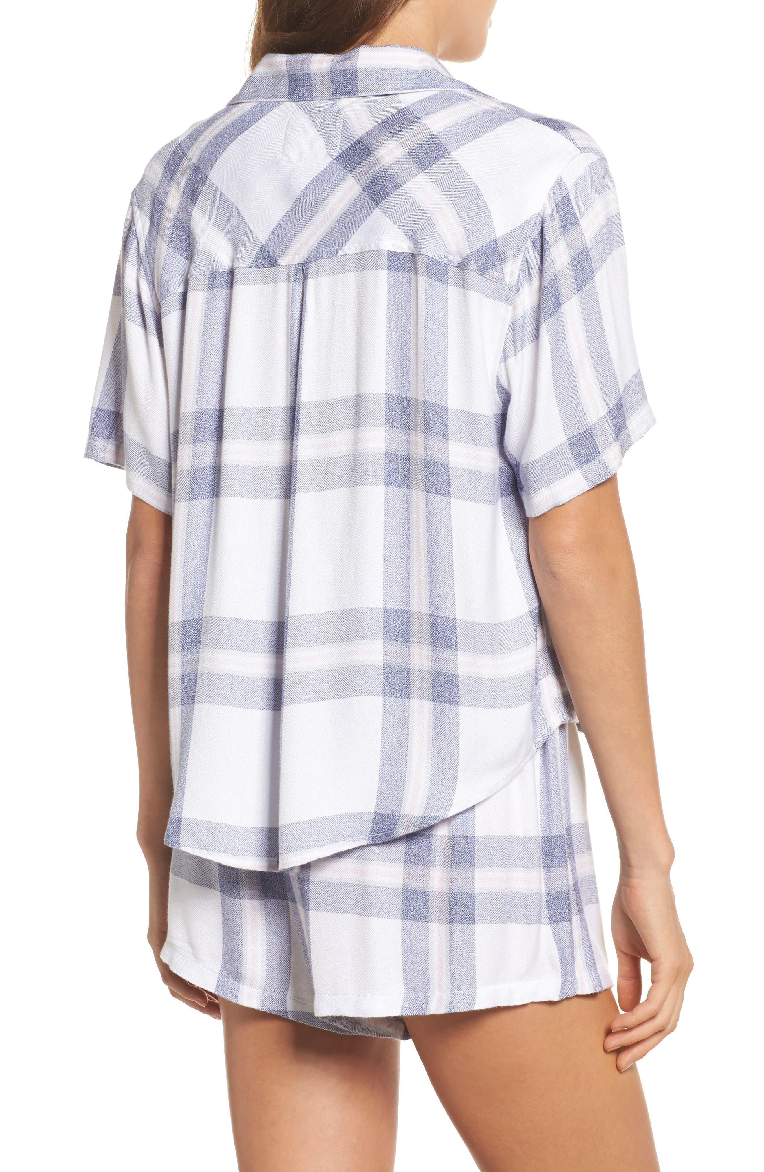 Plaid Short Pajamas,                             Alternate thumbnail 2, color,                             106