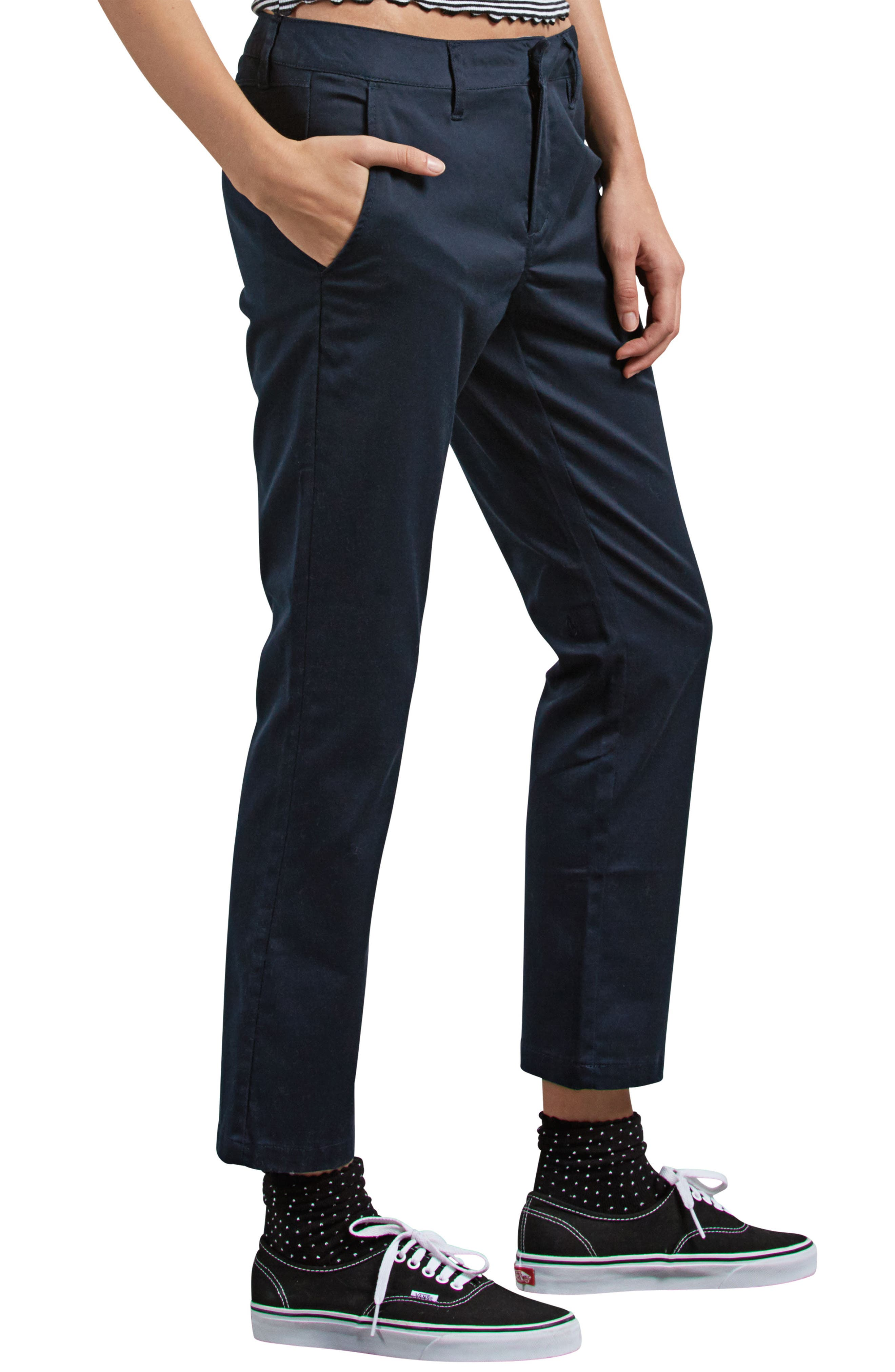 Frochickie Crop Pants,                             Alternate thumbnail 3, color,                             NAVY
