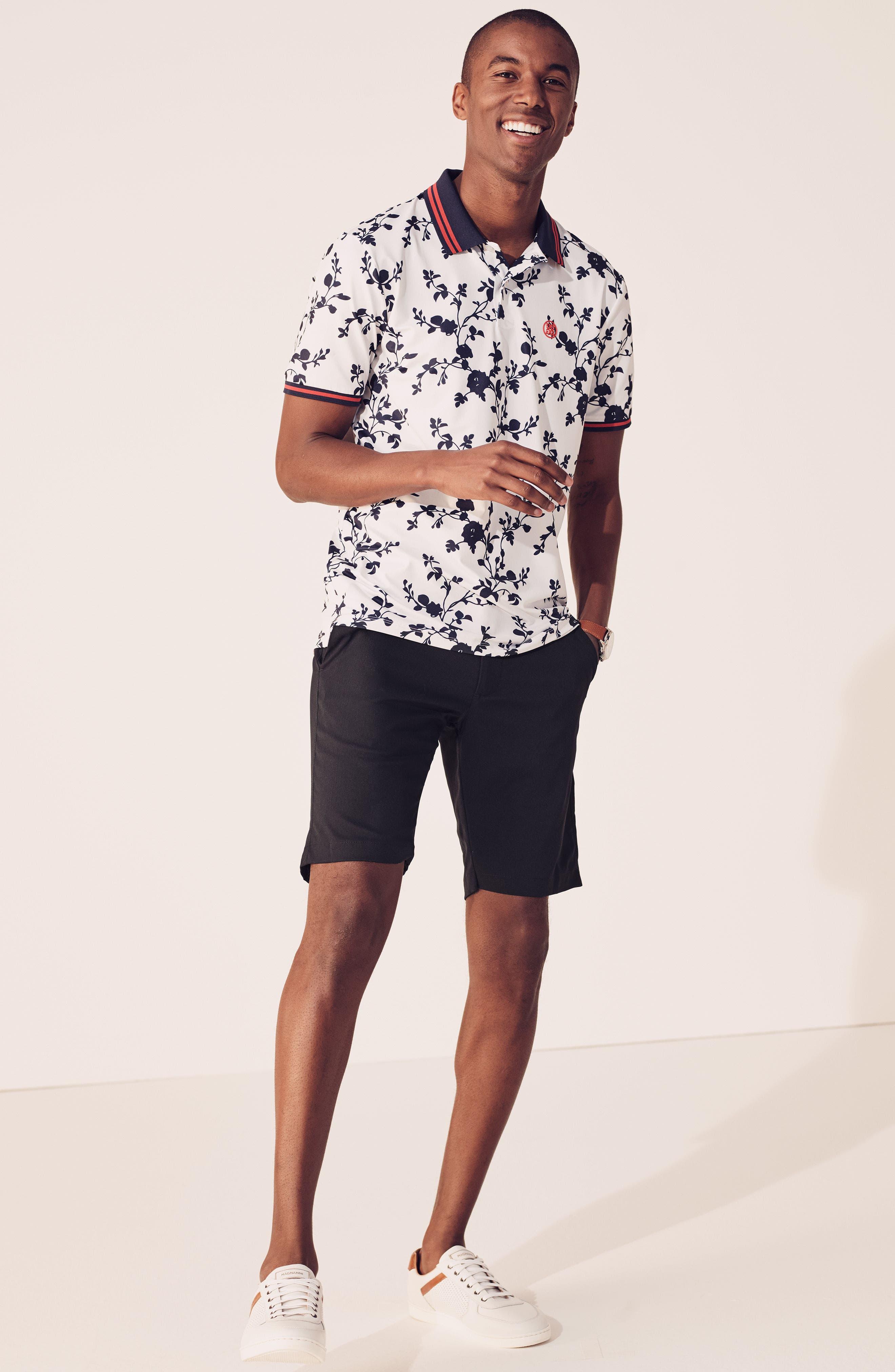 Takeover Regular Fit Golf Shorts,                             Alternate thumbnail 8, color,                             BLACK