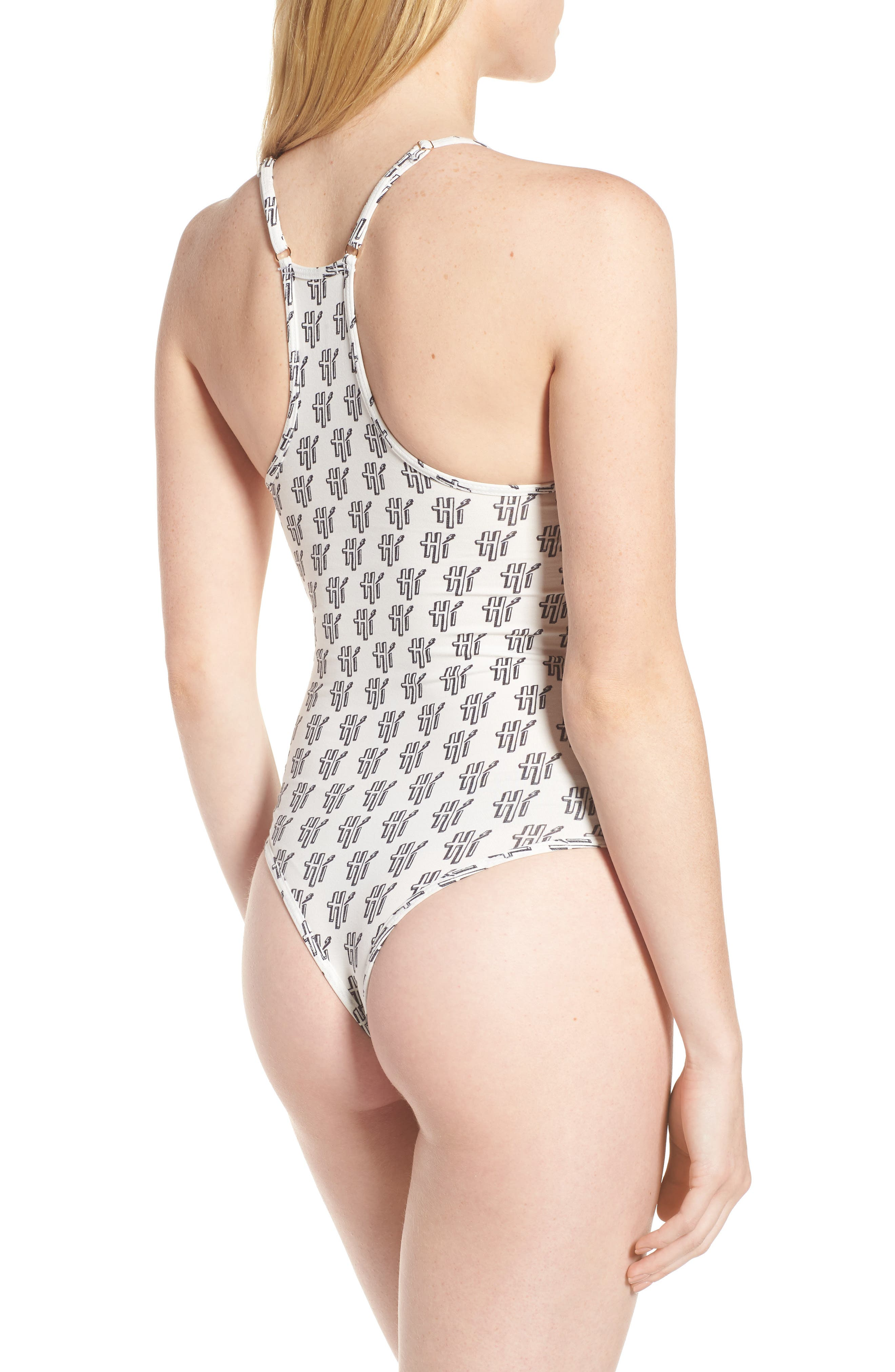 Hi Print Plunge Bodysuit,                             Alternate thumbnail 3, color,