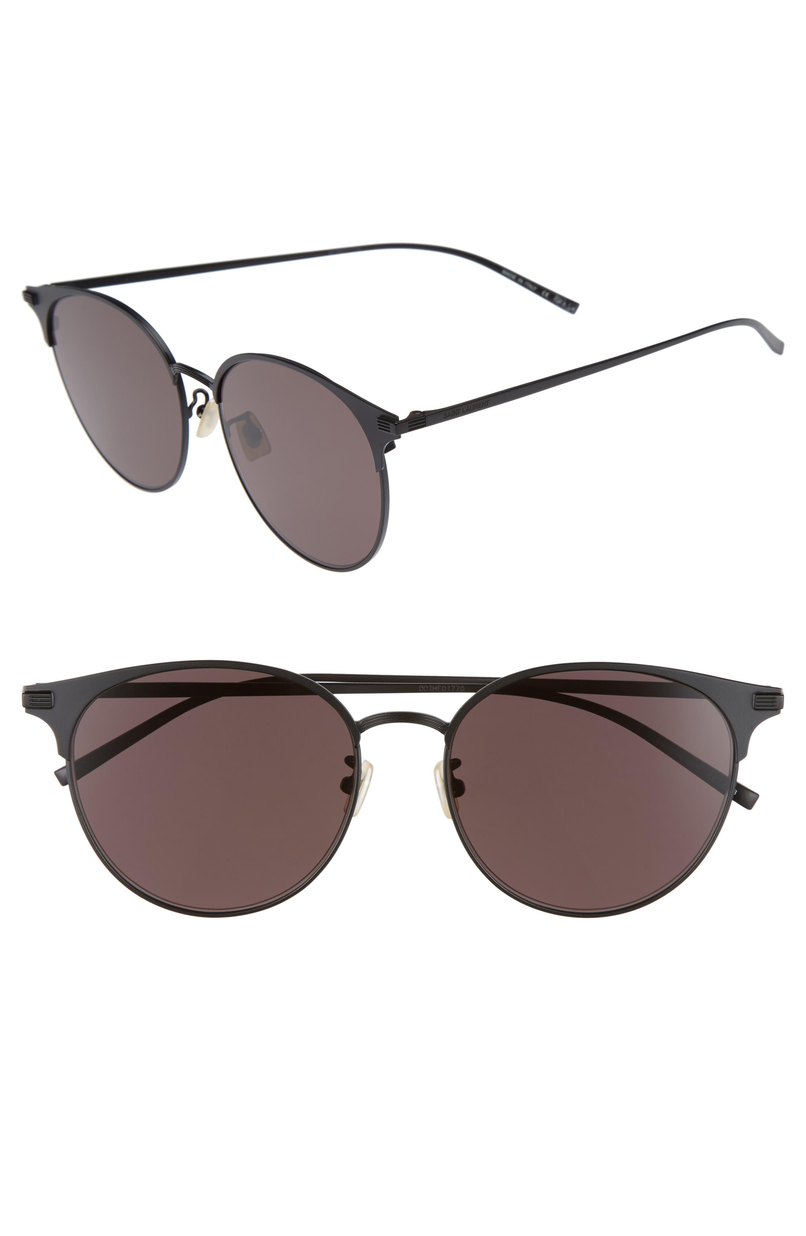 57mm Sunglasses,                             Main thumbnail 1, color,                             BLACK