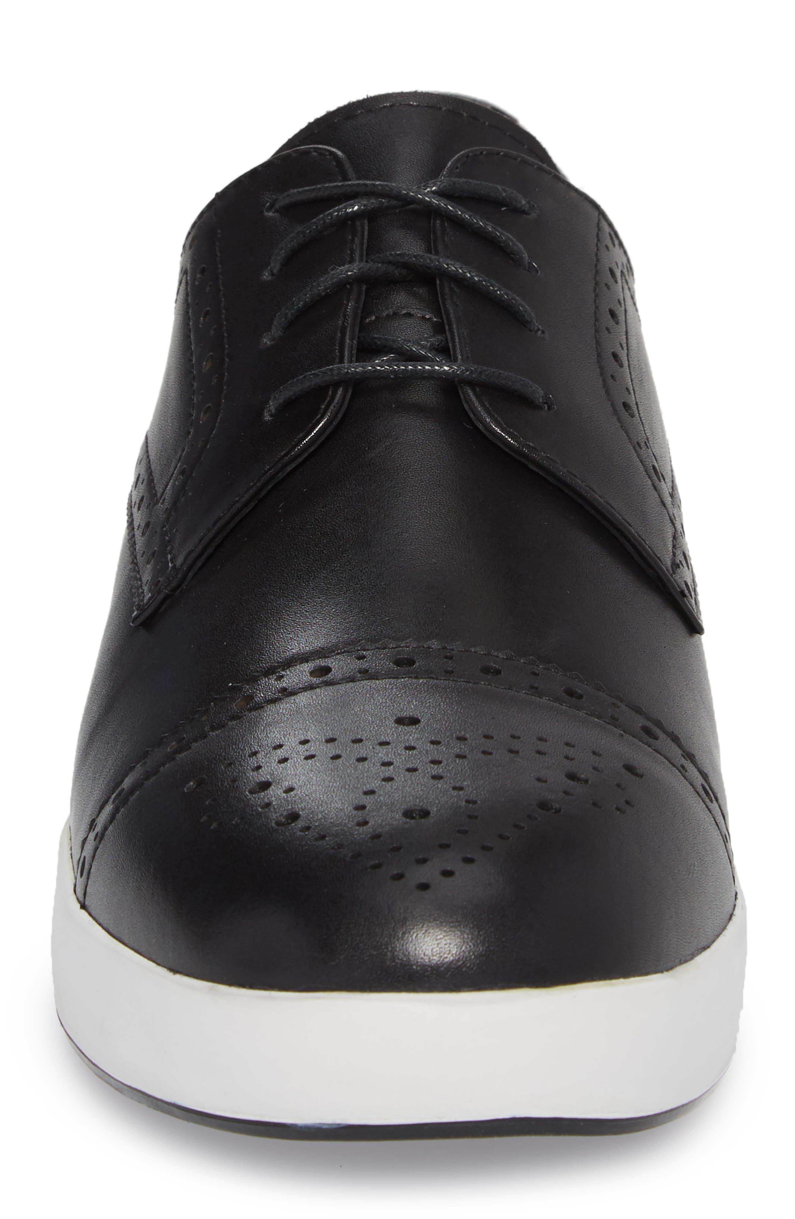 Dunnet Cap Toe Sneaker,                             Alternate thumbnail 4, color,                             001
