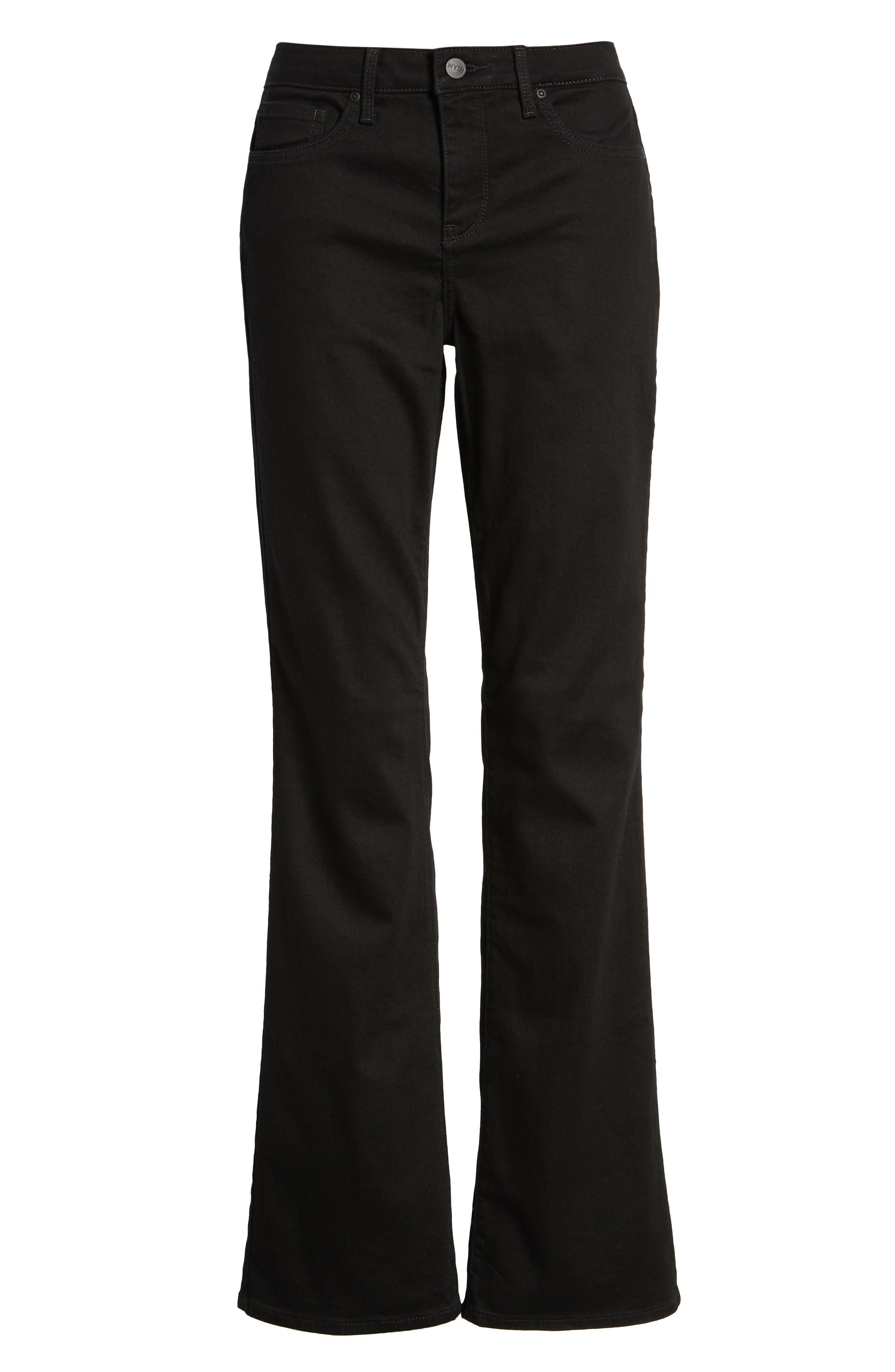 Barbara High Waist Stretch Bootcut Jeans,                             Alternate thumbnail 4, color,                             BLACK