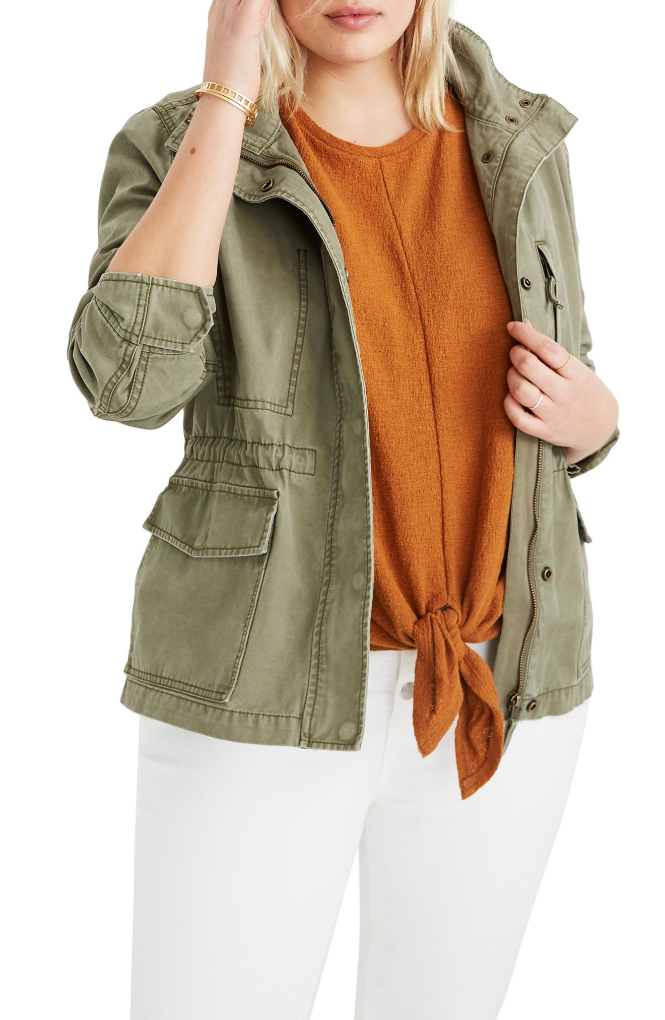 MADEWELL,                             Surplus Cotton Jacket,                             Alternate thumbnail 2, color,                             DESERT OLIVE