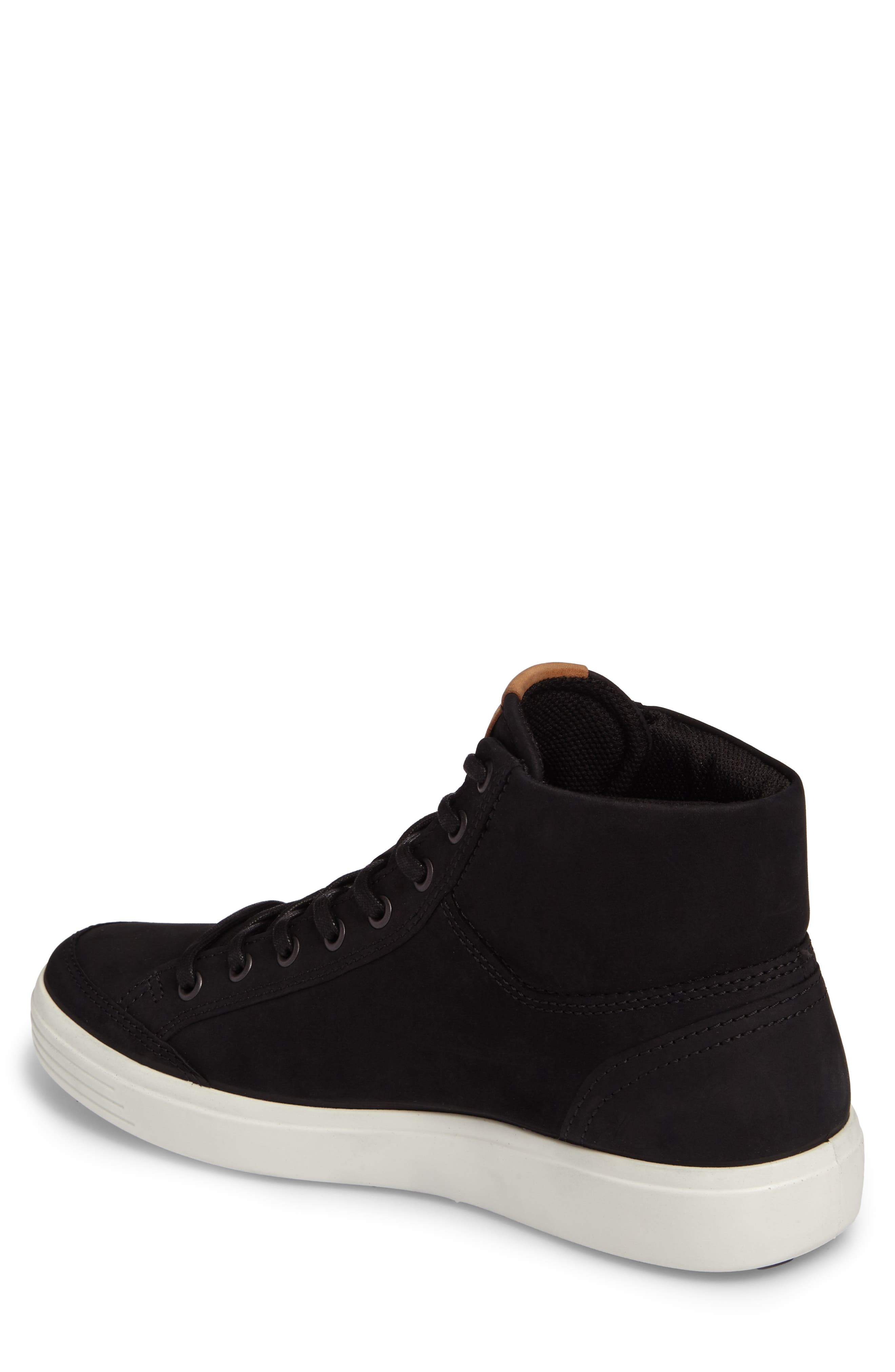Soft 7 Sneaker,                             Alternate thumbnail 2, color,                             BLACK LEATHER