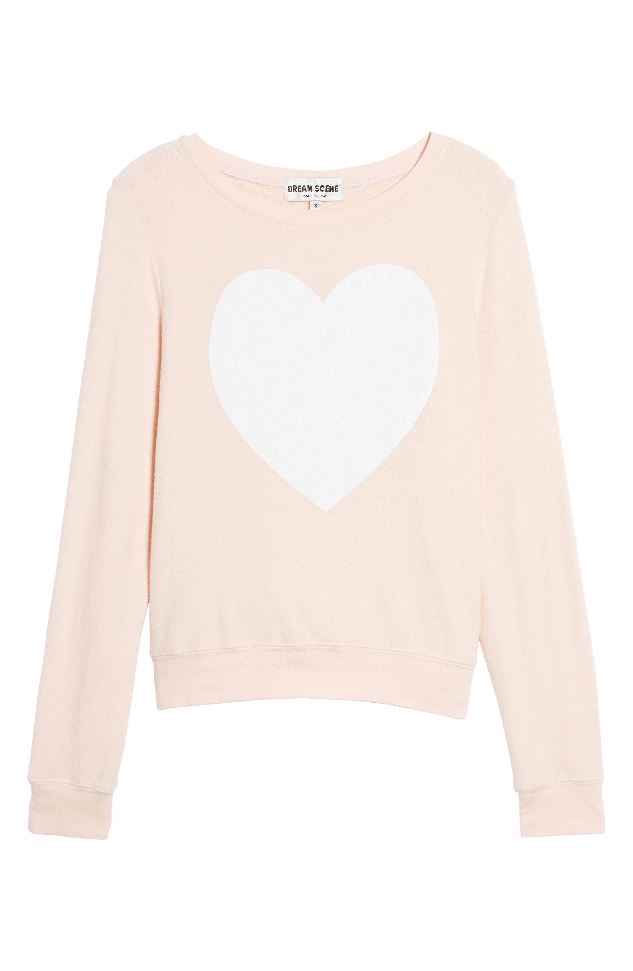 Heart Sweatshirt,                             Alternate thumbnail 6, color,                             650