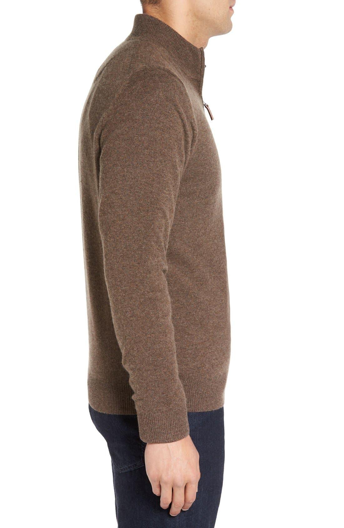 Cashmere Quarter Zip Sweater,                             Alternate thumbnail 48, color,