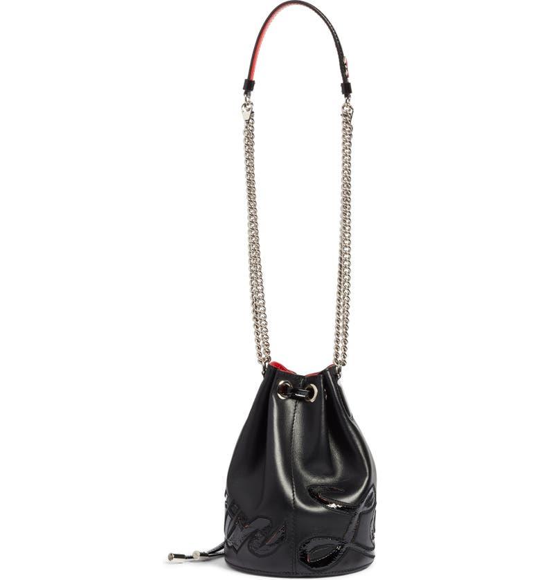 834115557cde Christian Louboutin Marie Jane Calfskin Bucket Bag - Black In Black  Black