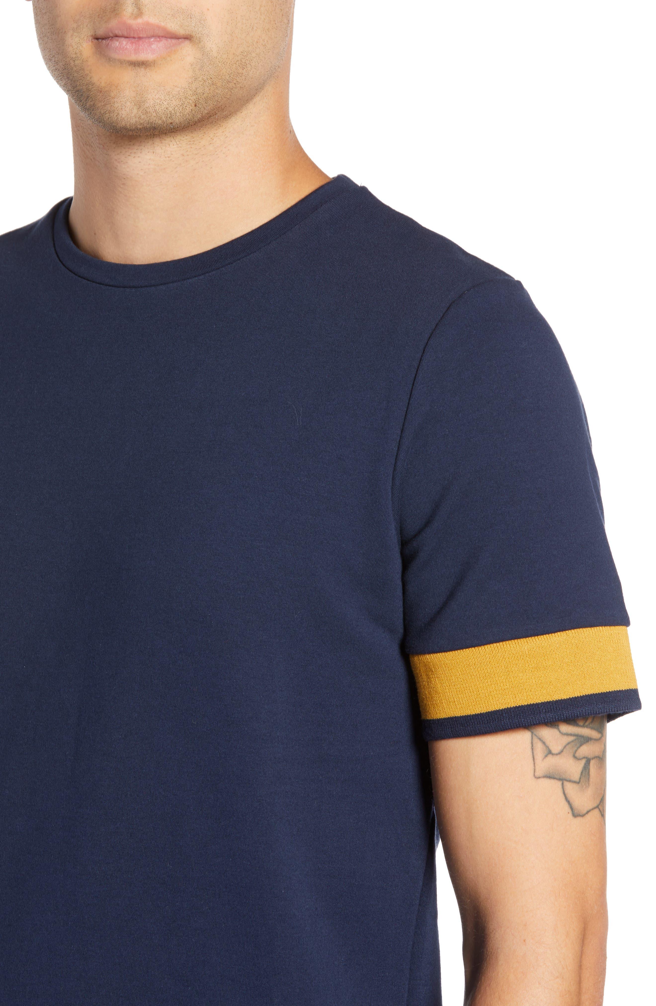Tipped T-Shirt,                             Alternate thumbnail 4, color,                             NAVY