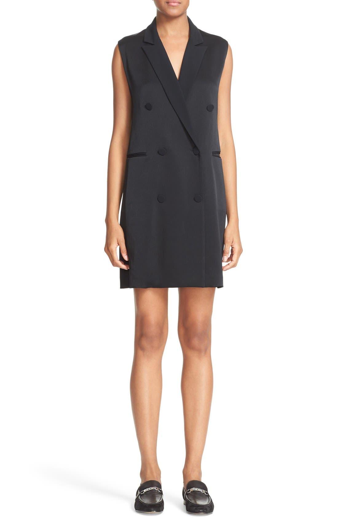 'Adler' Sleeveless Blazer Dress, Main, color, 001