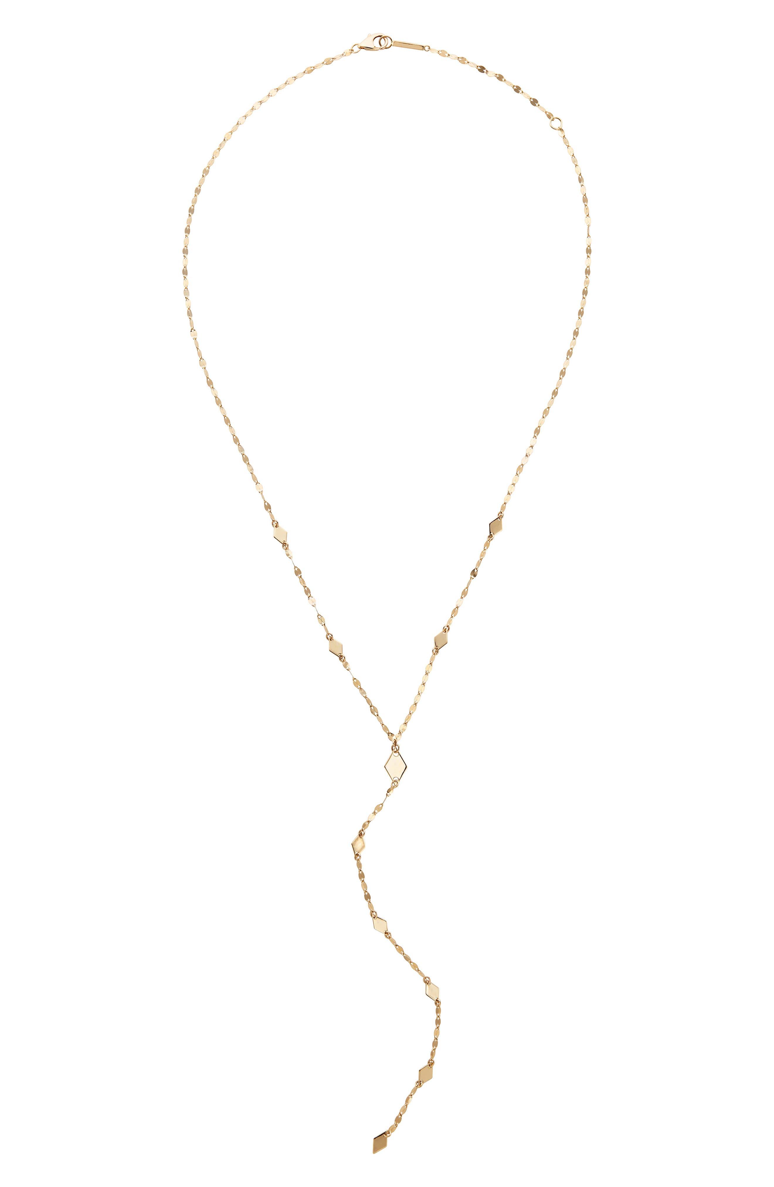 LANA JEWELRY,                             Mixed Mini Kite & Kite Y-Necklace,                             Main thumbnail 1, color,                             GOLD
