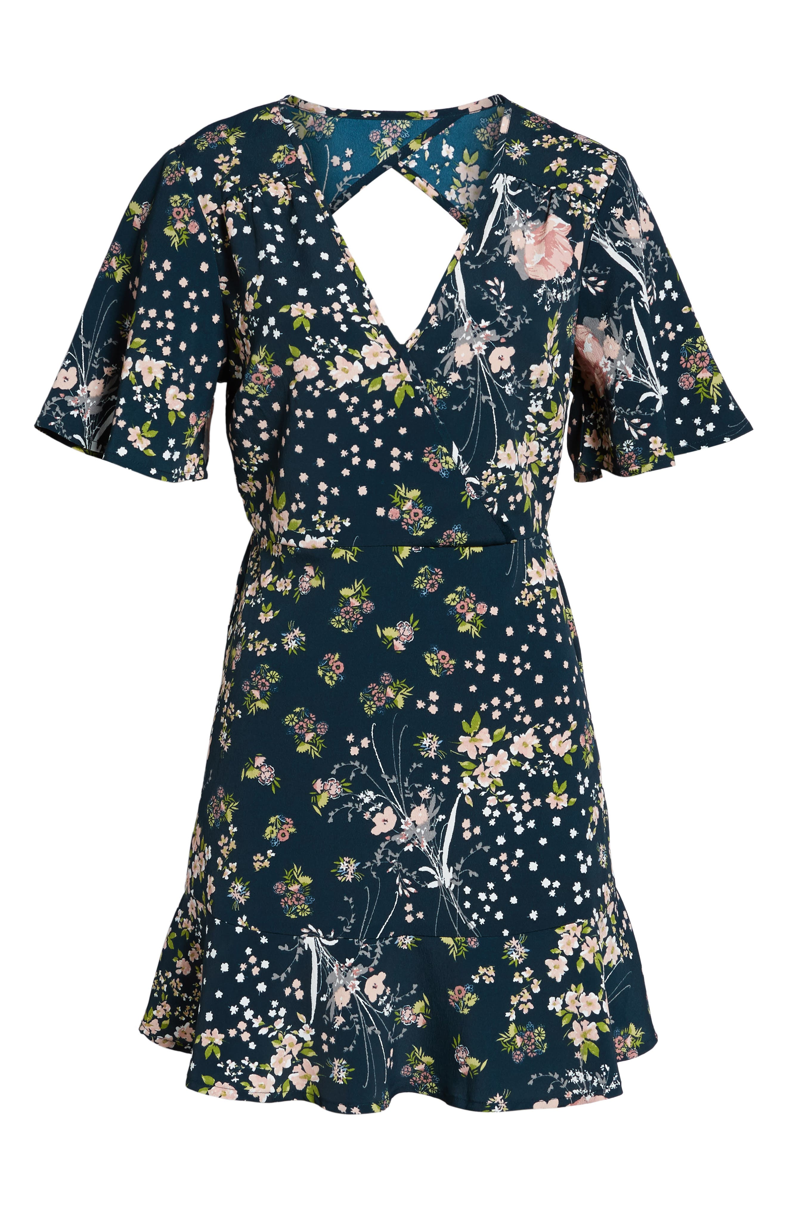 Moody Floral Dress,                             Alternate thumbnail 6, color,                             440