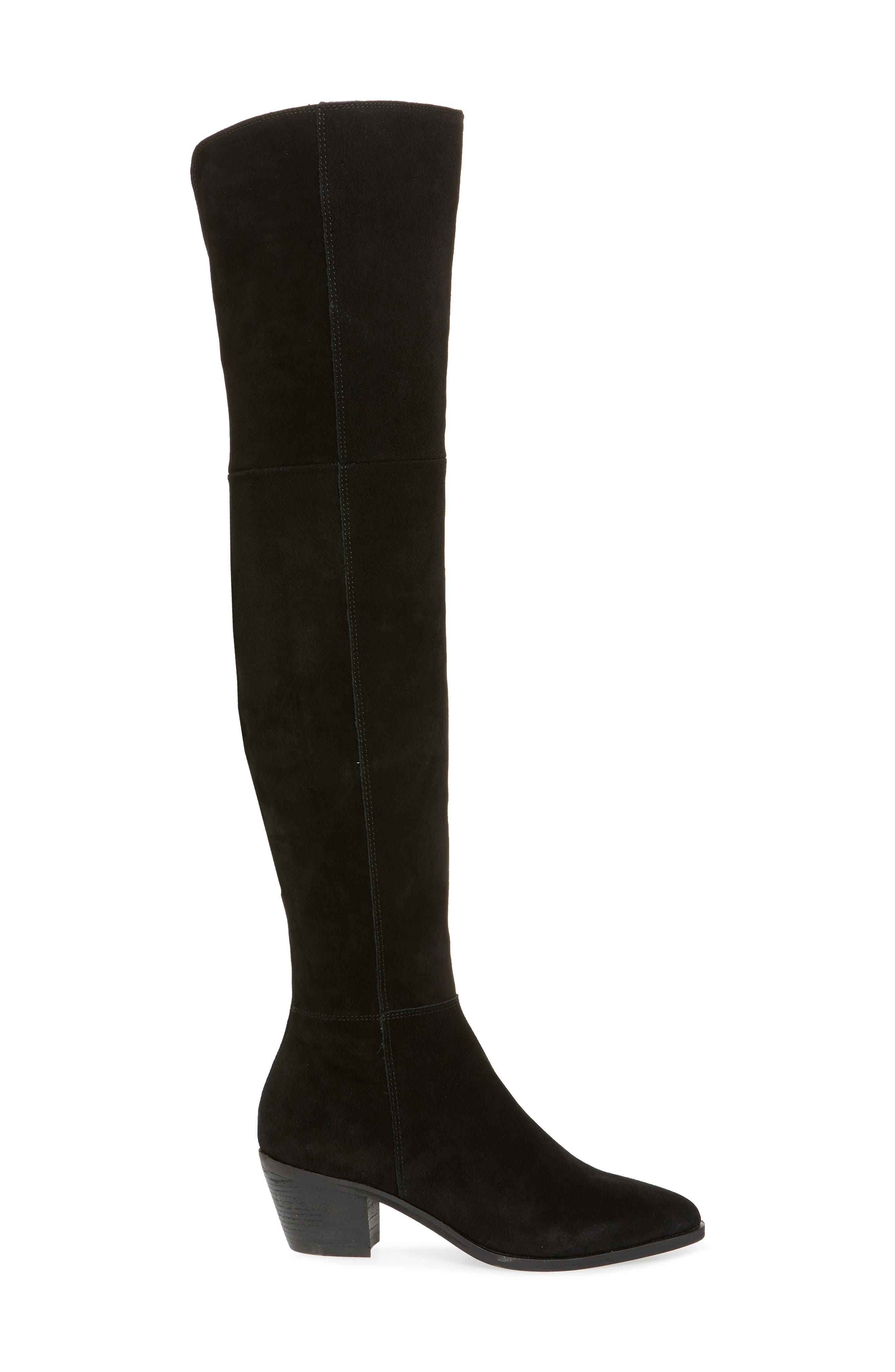 Lucca Pieced Over the Knee Boot,                             Alternate thumbnail 3, color,                             006