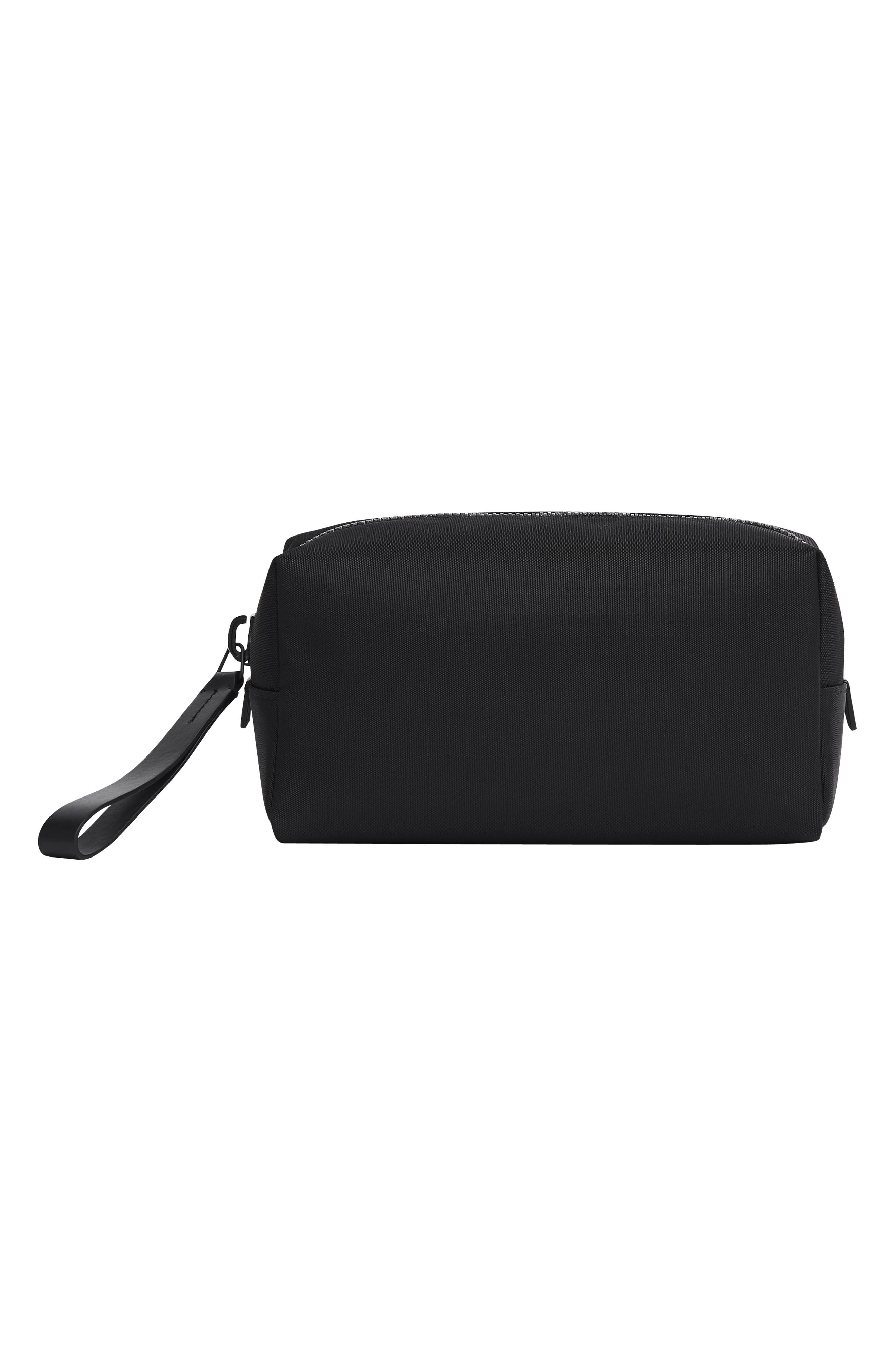 Nylon Dopp Kit,                             Alternate thumbnail 8, color,                             BLACK NYLON/ BLACK LEATHER