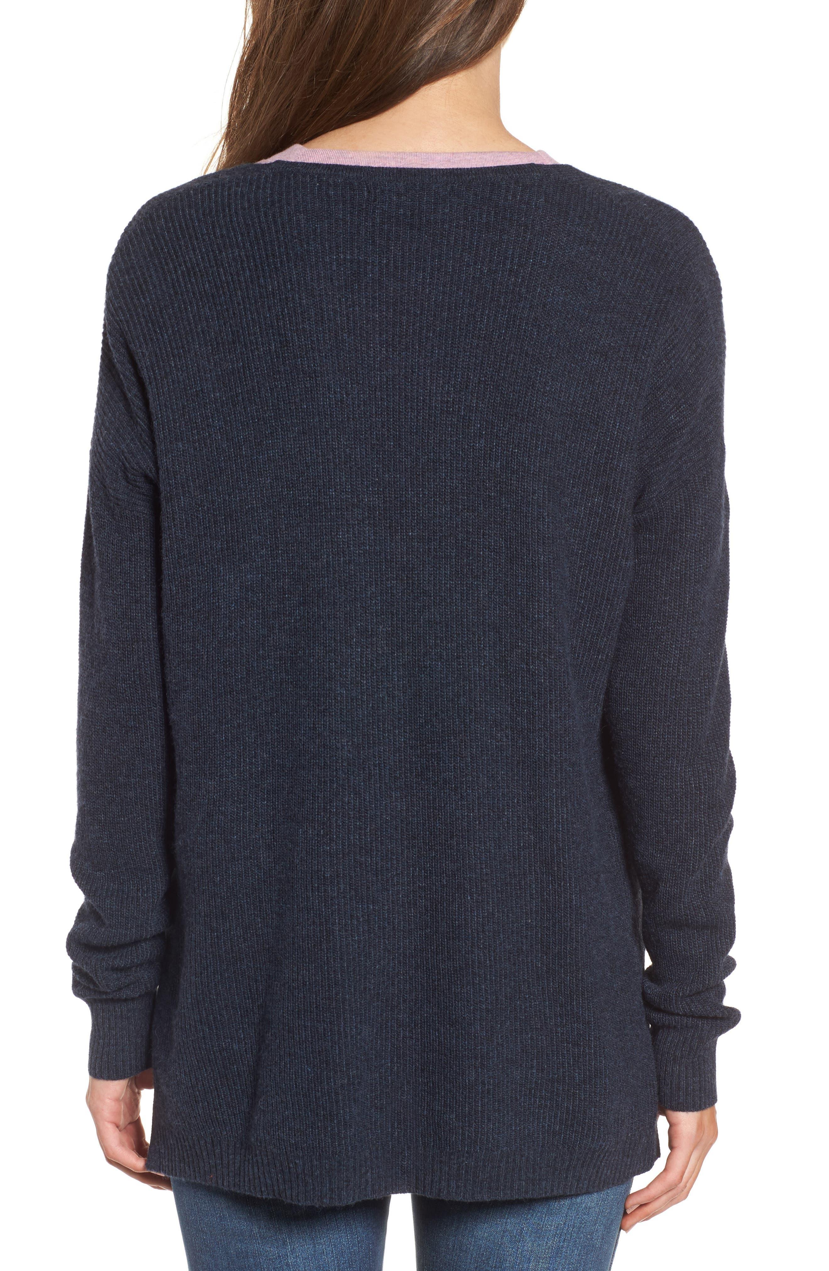 Warmlight V-Neck Sweater,                             Alternate thumbnail 2, color,                             400