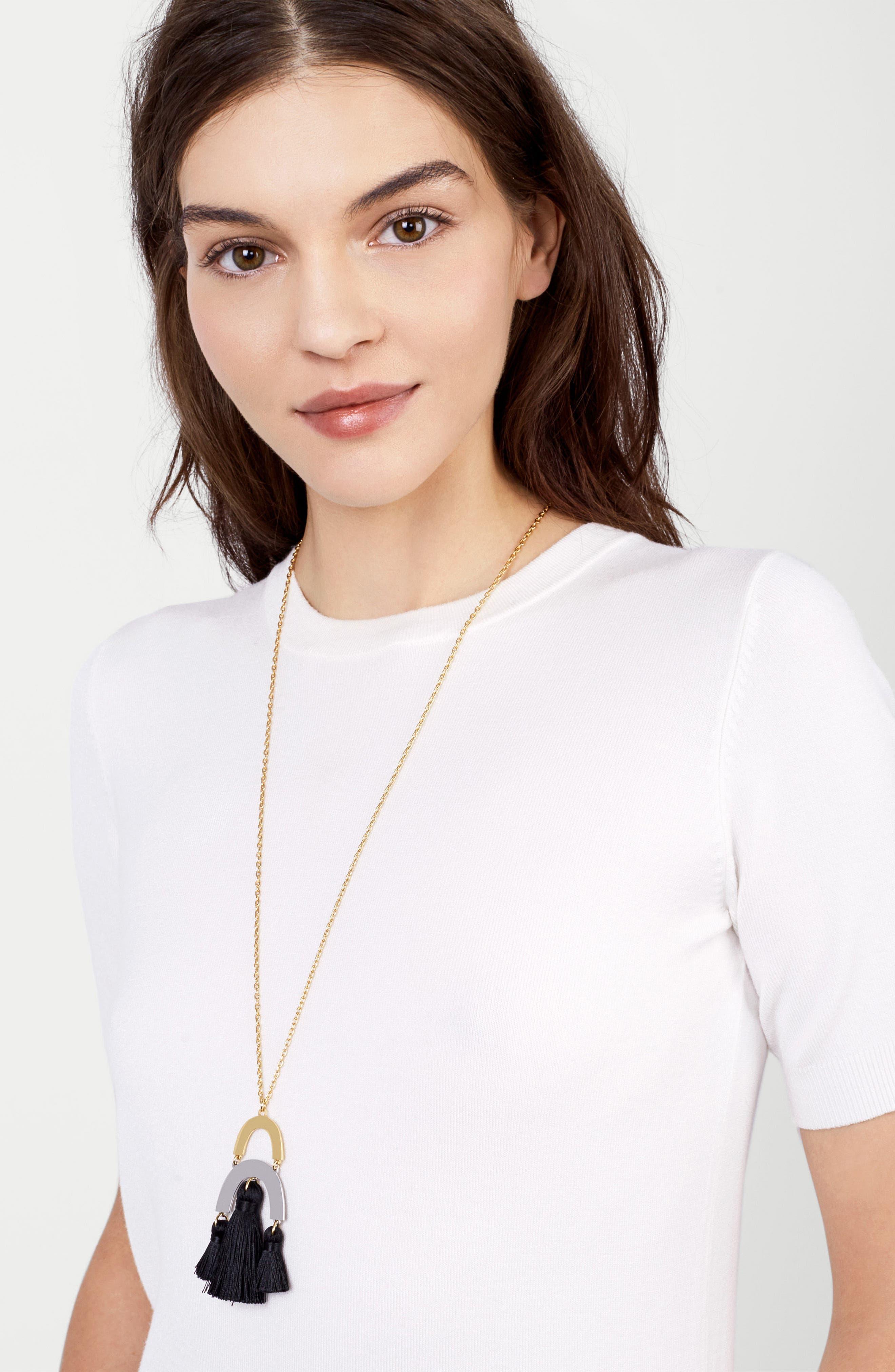 BuableBar Shamia Tassel Pendant Necklace,                         Main,                         color, 001