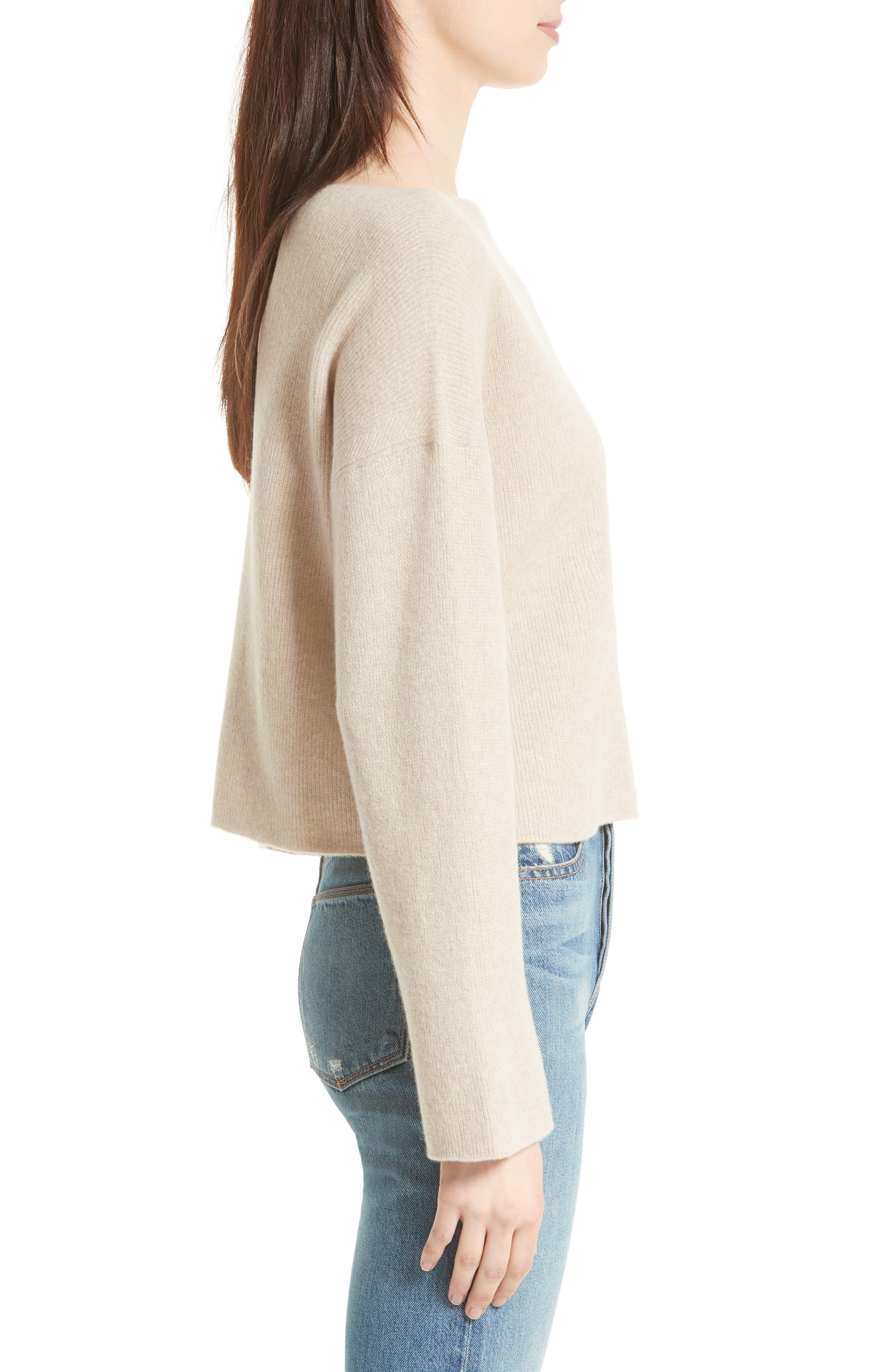 VINCE,                             Boxy Cashmere Sweater,                             Alternate thumbnail 3, color,                             233