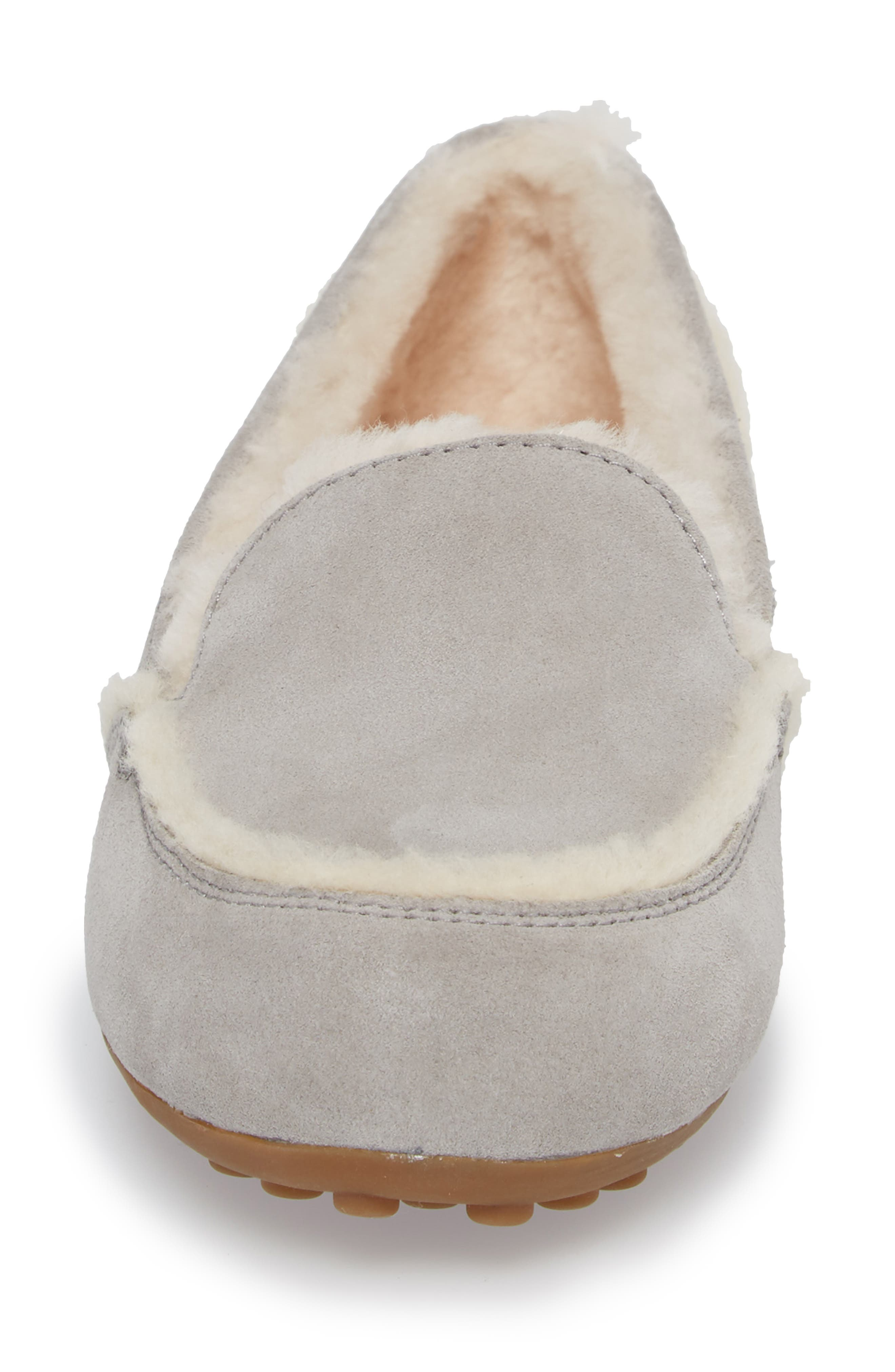 Hailey Slipper,                             Alternate thumbnail 4, color,                             GREY SUEDE
