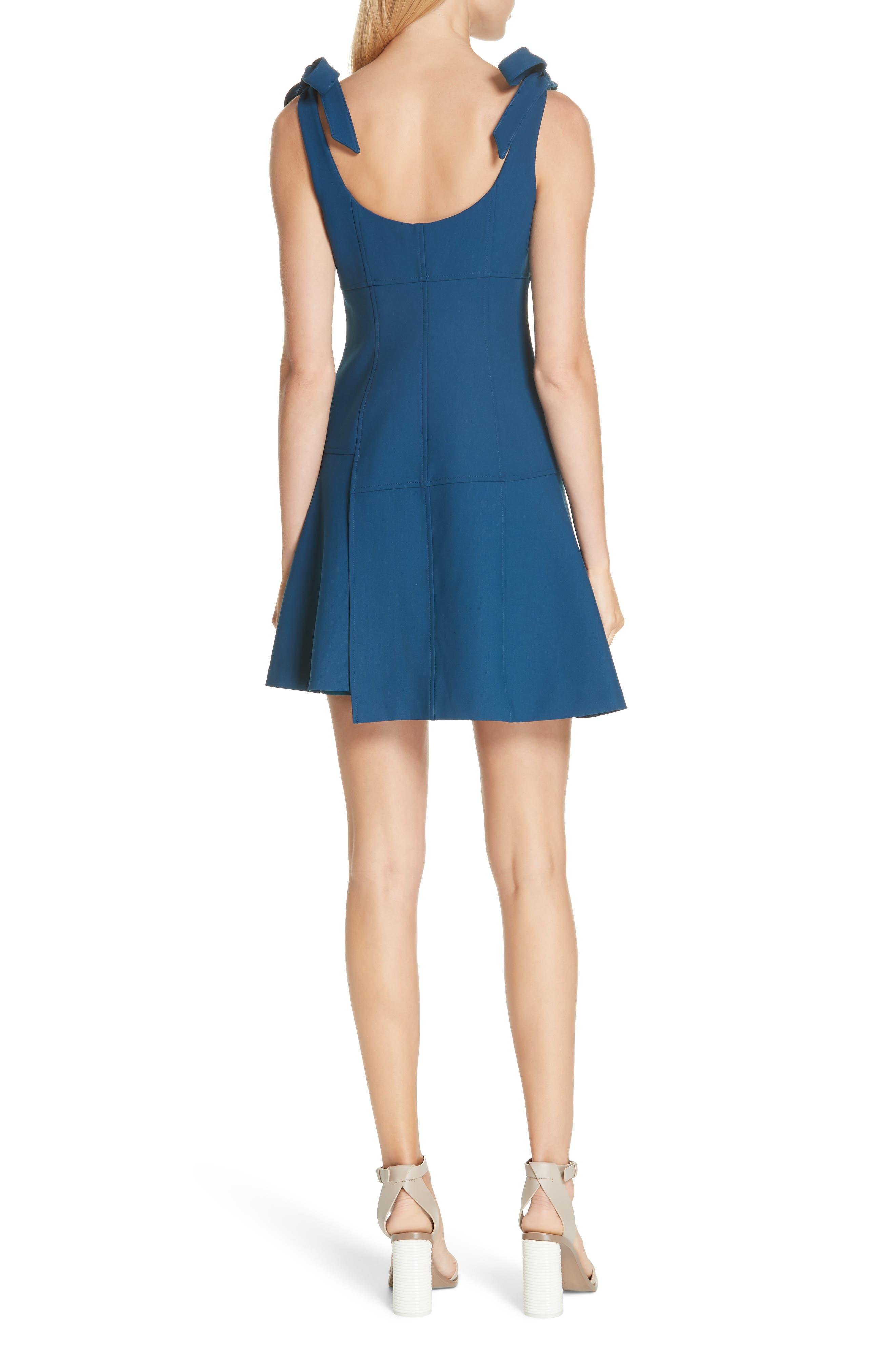 CINQ À SEPT,                             Jeanette Tie Strap Dress,                             Alternate thumbnail 2, color,                             495
