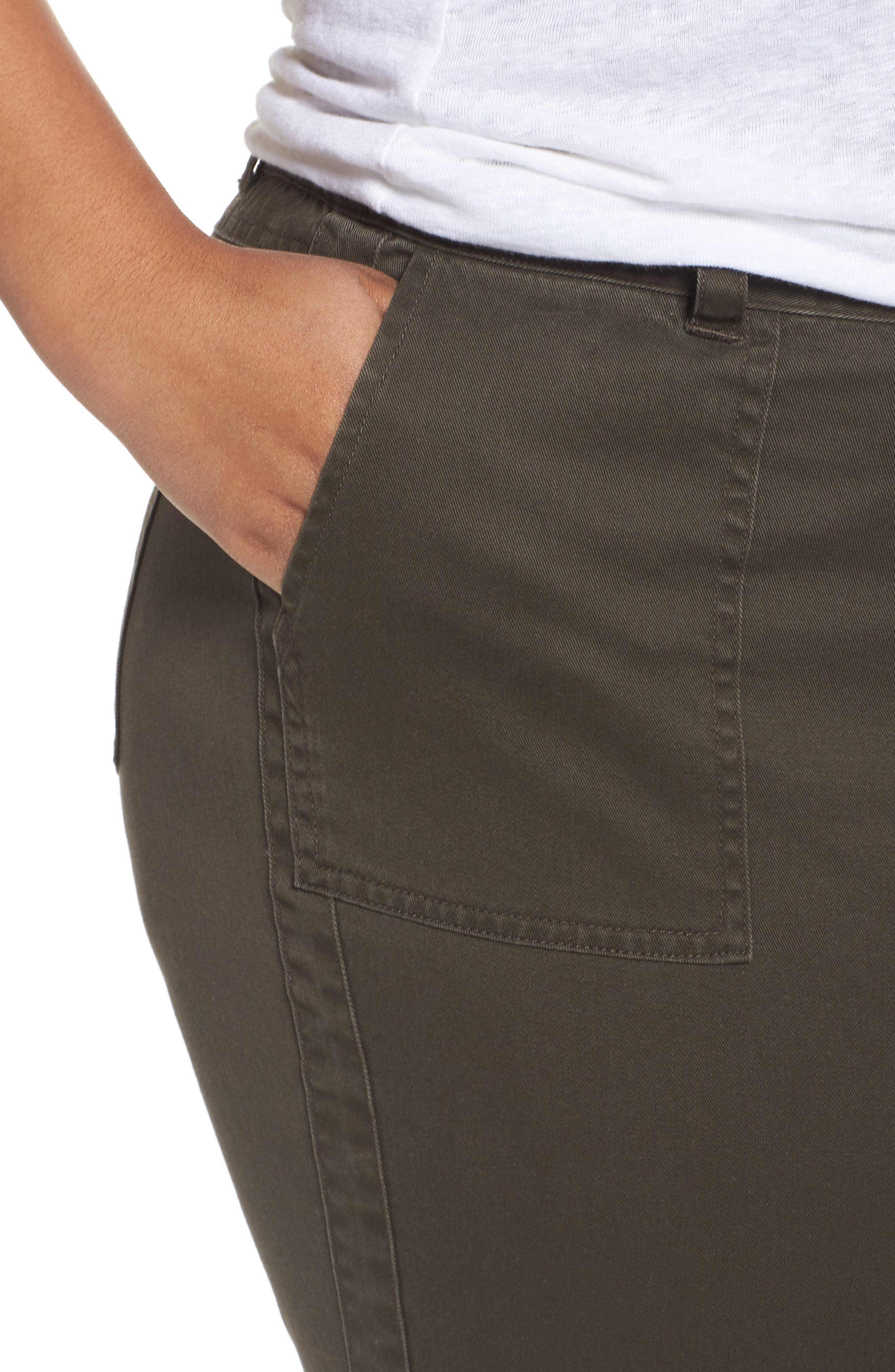 Twill Ankle Pants,                             Alternate thumbnail 4, color,                             311