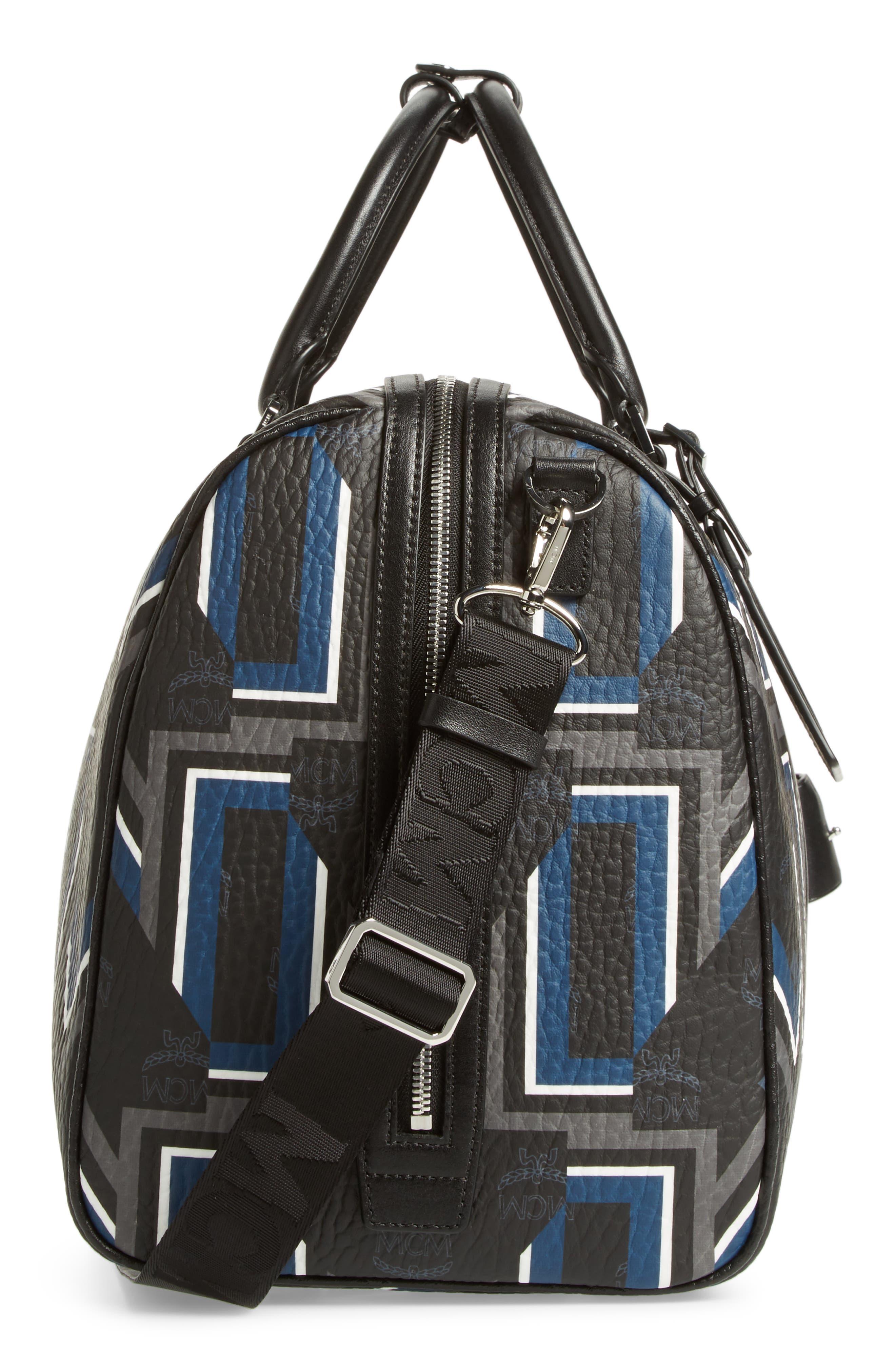 Gunta Visetos Duffel Bag,                             Alternate thumbnail 5, color,                             BLACK