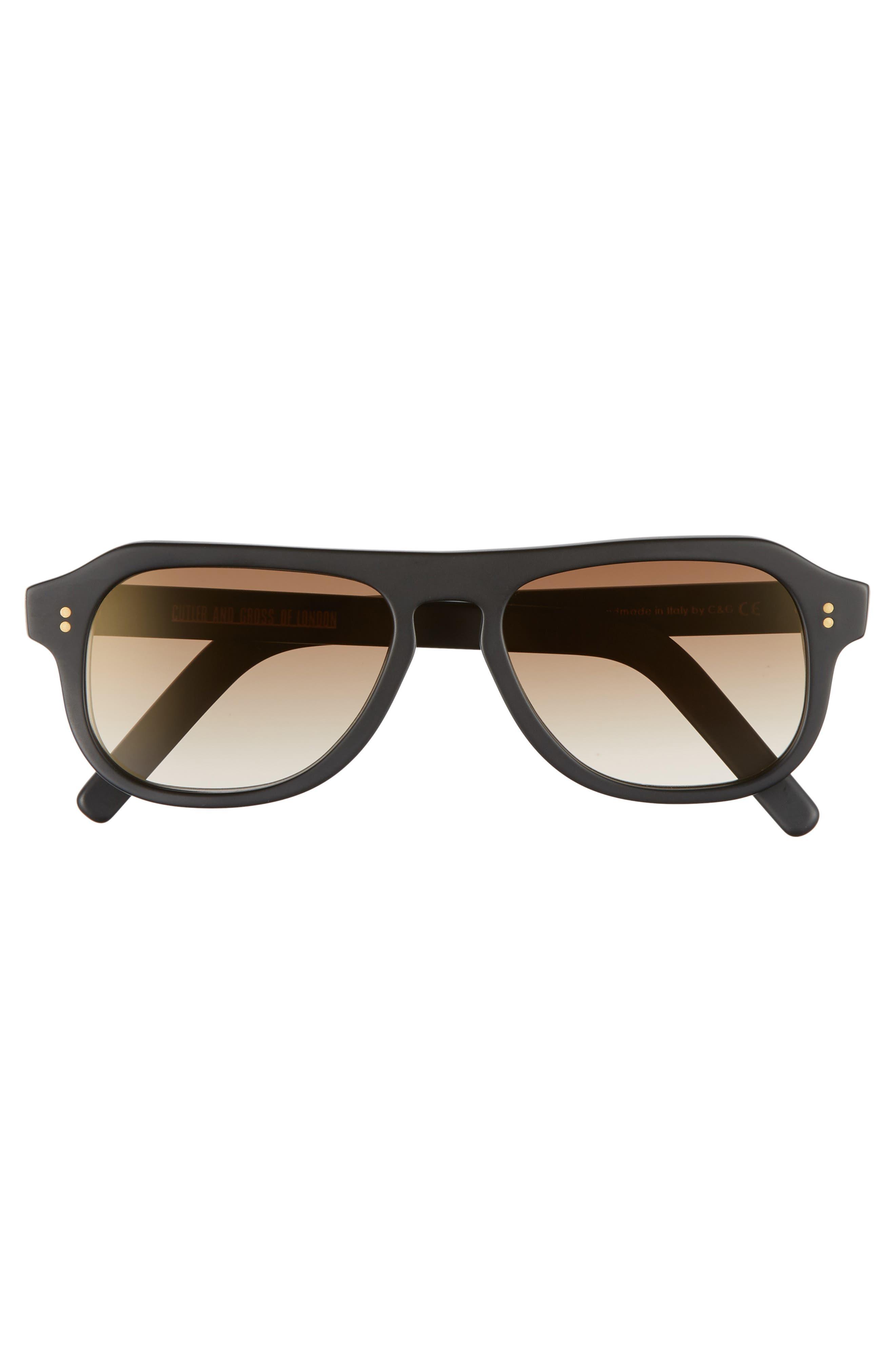 53mm Polarized Sunglasses,                             Alternate thumbnail 2, color,                             MATTE BLACK/ BROWN