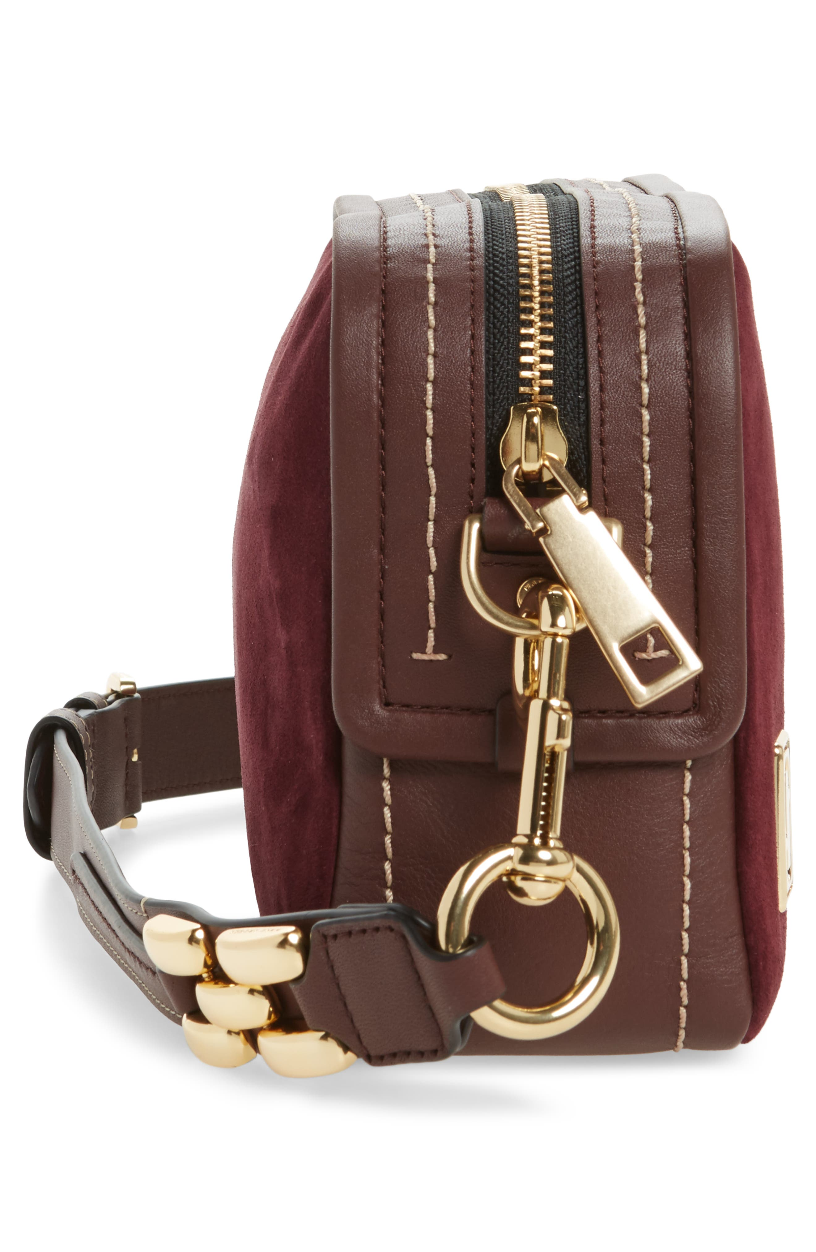 The Squeeze Suede & Leather Shoulder Bag,                             Alternate thumbnail 15, color,