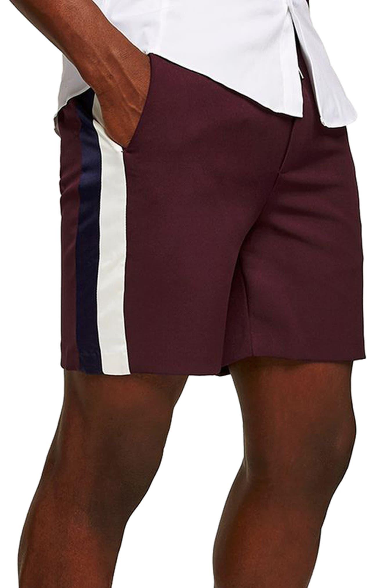 Satin Stripe Shorts,                             Main thumbnail 1, color,                             500