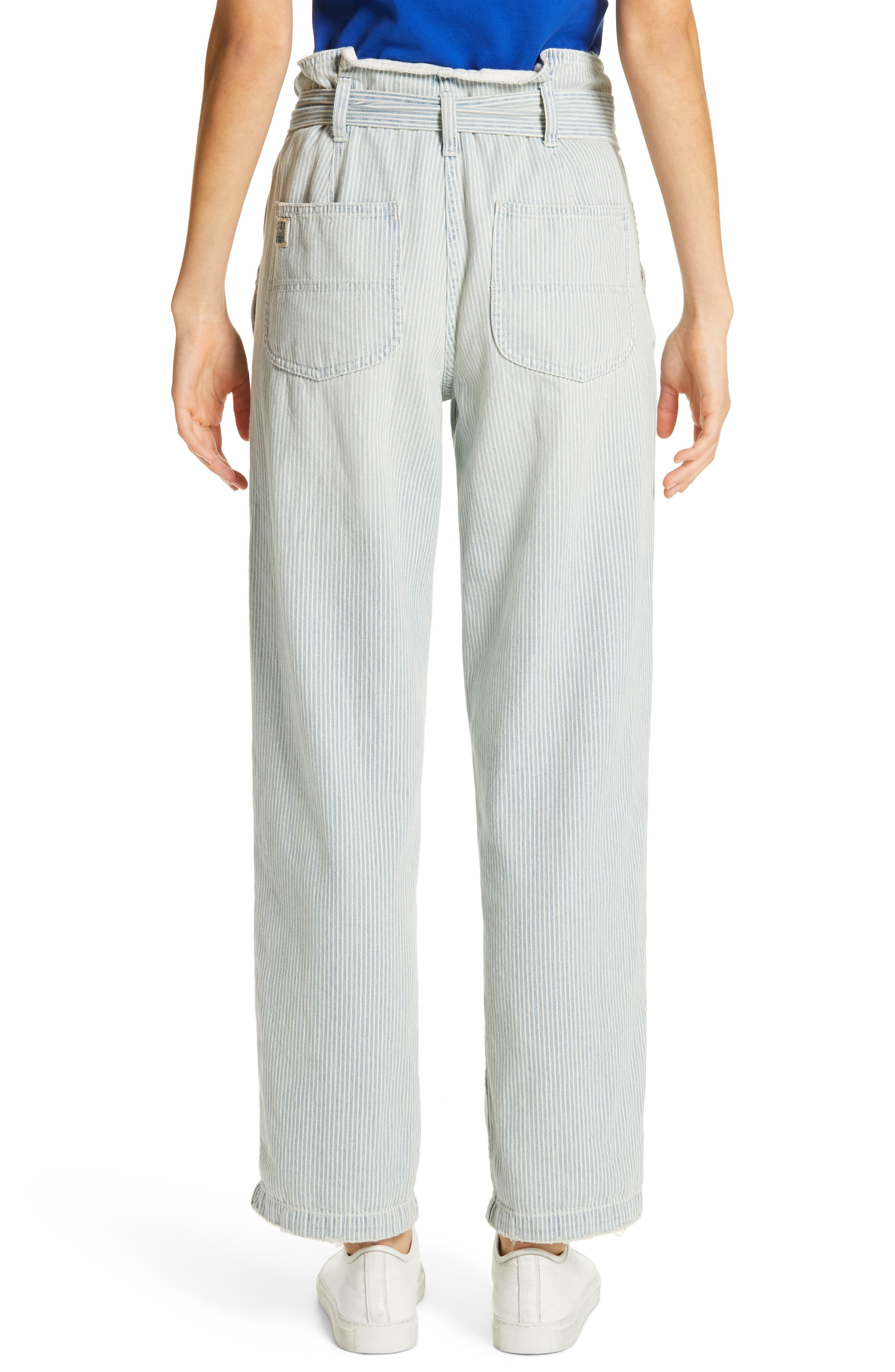 Paperbag Waist Jeans,                             Alternate thumbnail 2, color,                             RAILROAD STRIPE