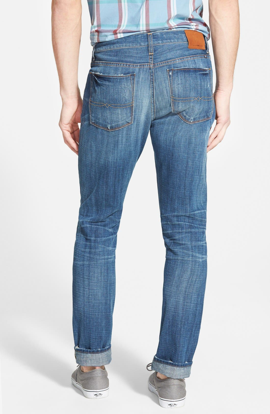 '1 Authentic' Skinny Fit Jeans,                             Alternate thumbnail 4, color,                             420